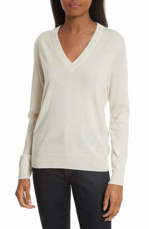 Women's Tory Burch Off-White Cashmere Sweaters | Nordstrom