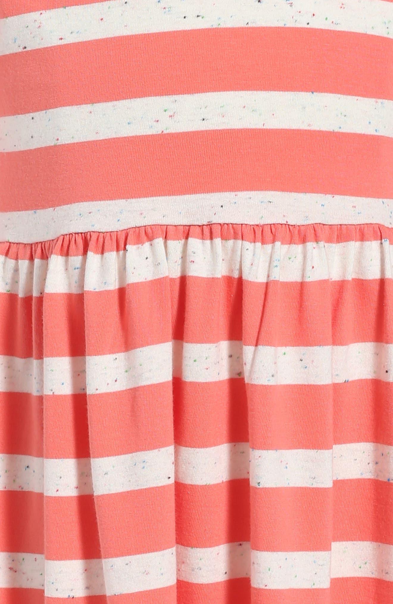 Saorsa Appliqué Dress,                             Alternate thumbnail 3, color,                             Orange Buoy