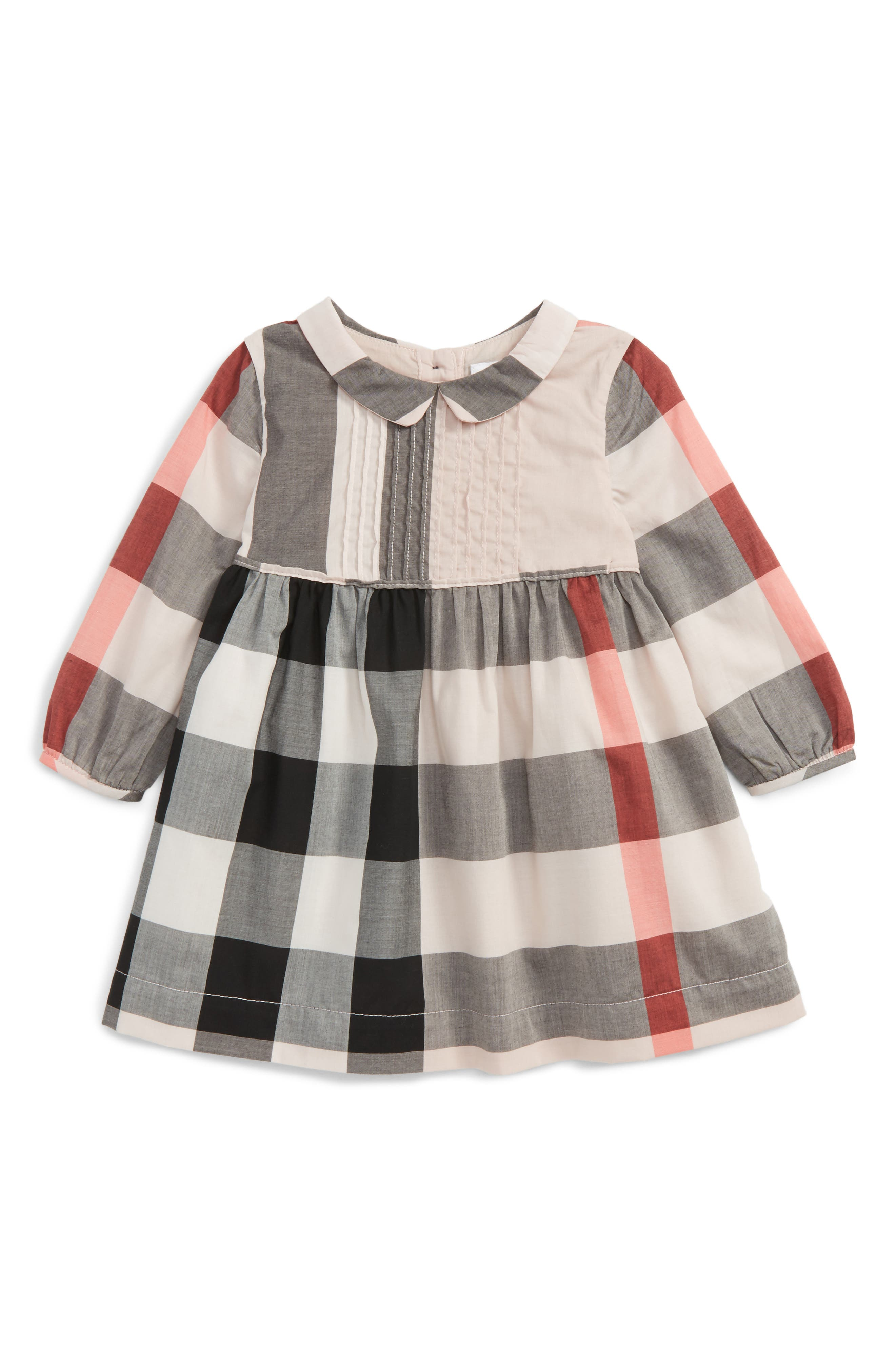 Main Image - Burberry Liza Check Dress (Baby Girls)