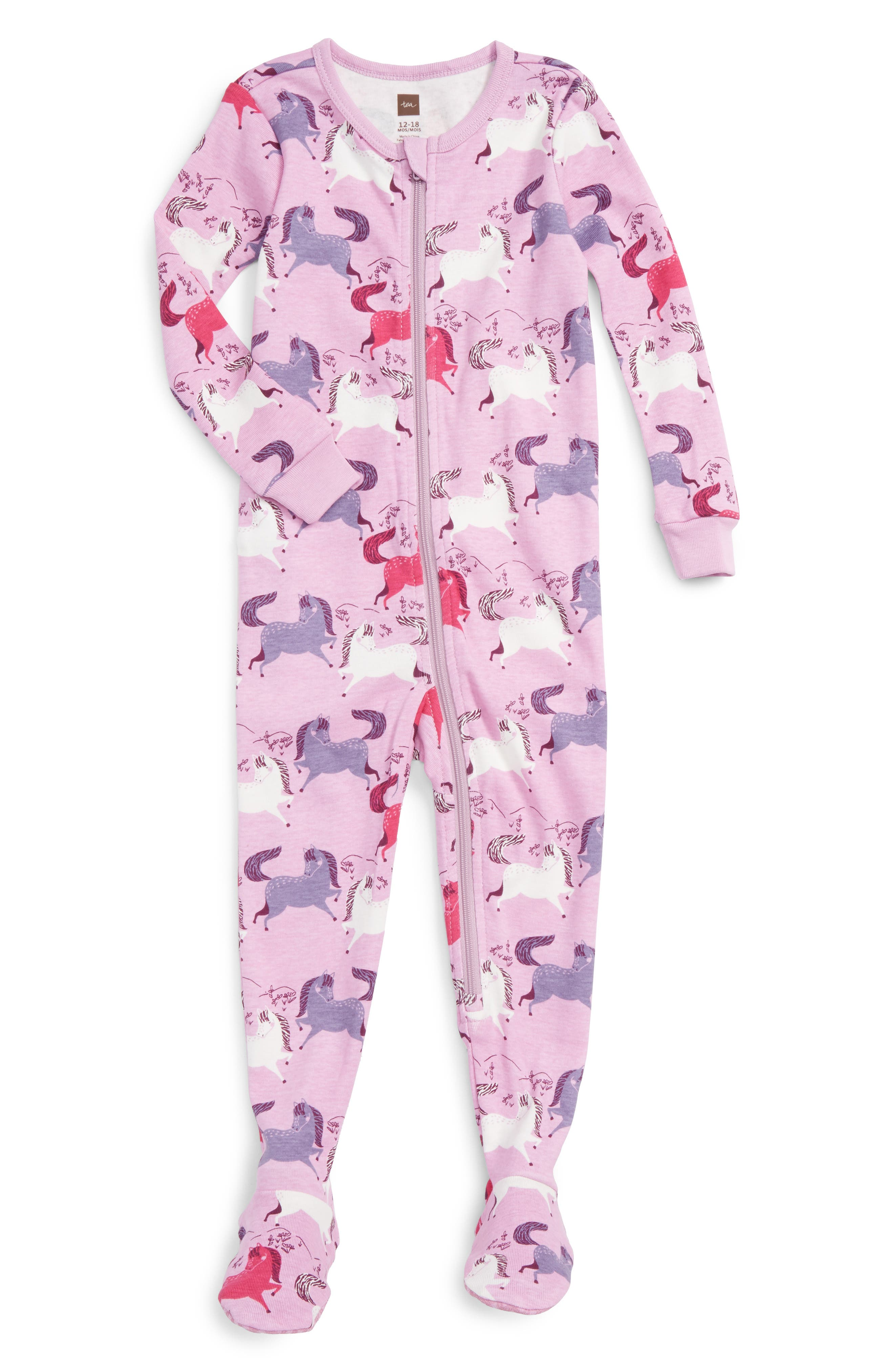 Tea Collection Shetland Fitted One-Piece Pajamas (Baby Girls)