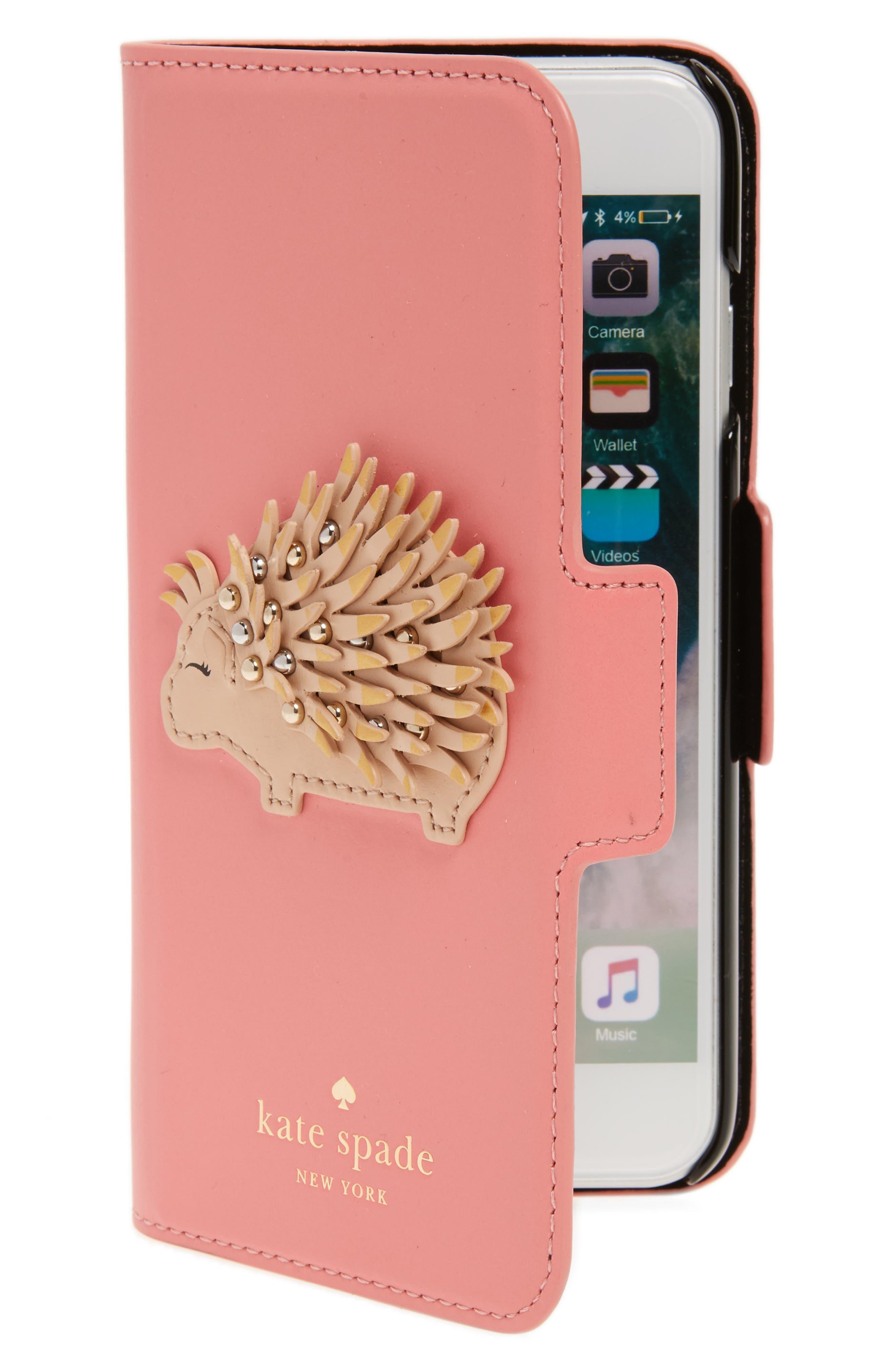 porcupine iPhone 7/8 folio case,                             Main thumbnail 1, color,                             Multi