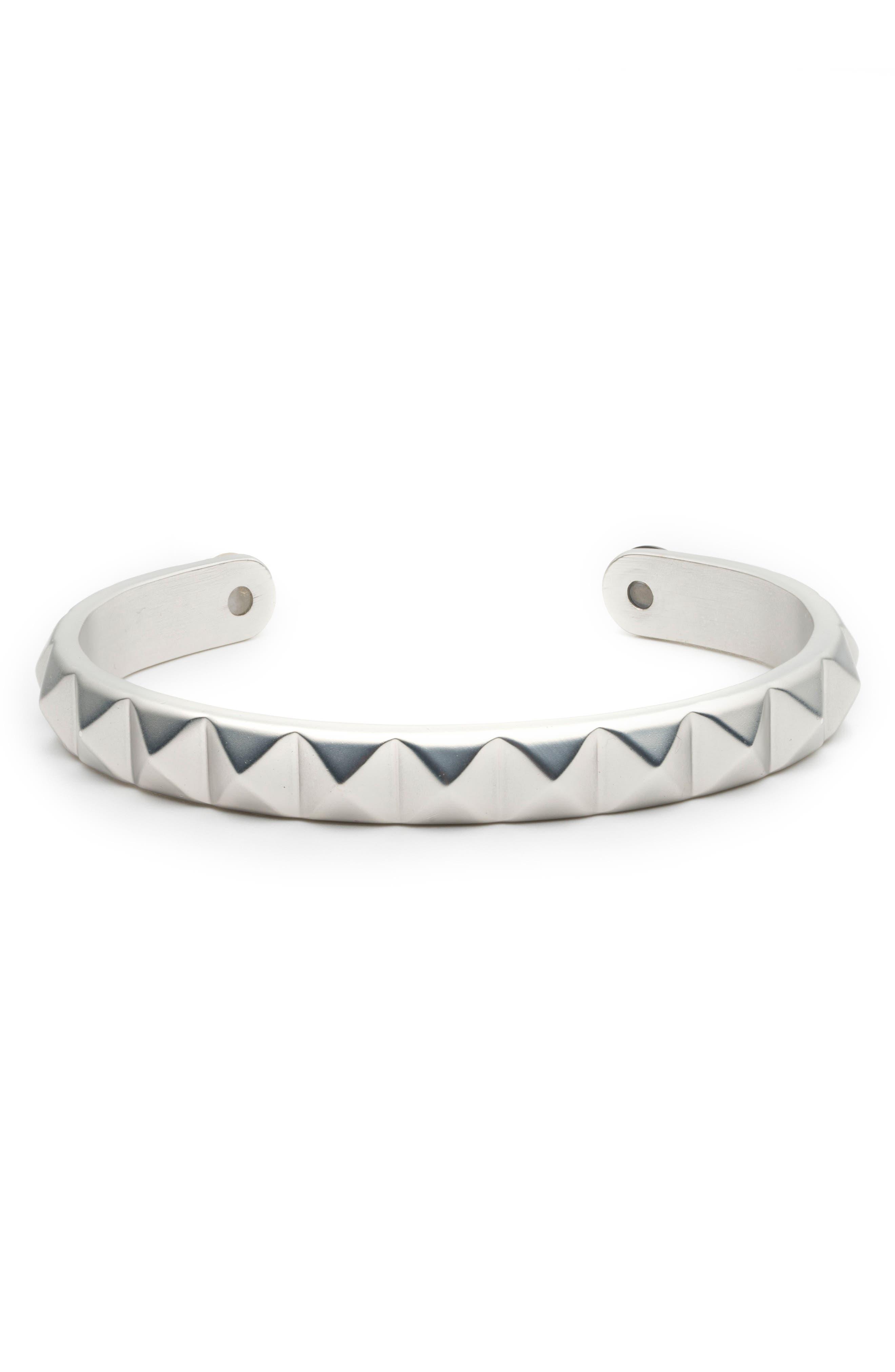Cuff Bracelet,                         Main,                         color, Silver