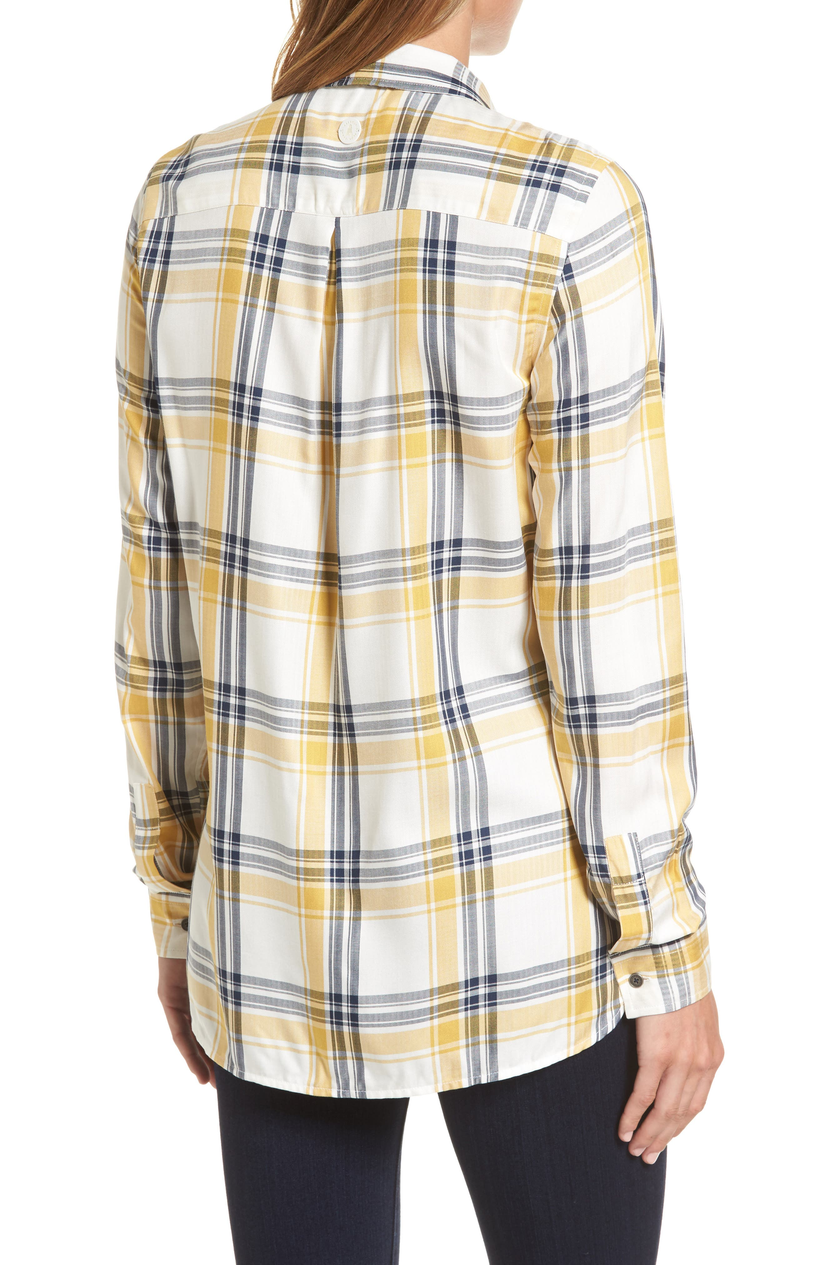 Newton Plaid Shirt,                             Alternate thumbnail 2, color,                             Sun Gold