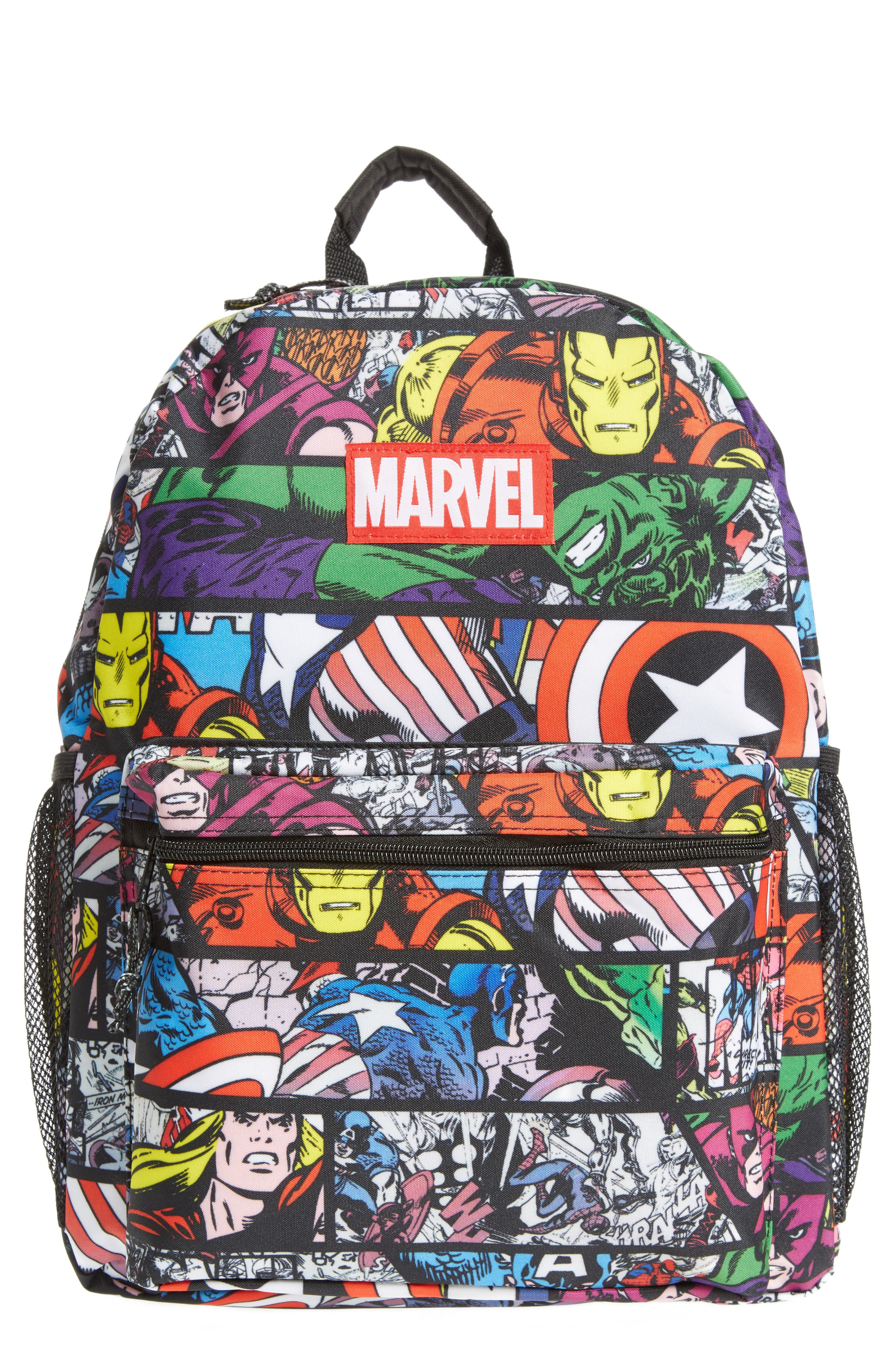 Alternate Image 1 Selected - Marvel Allover Print Backpack (Kids)