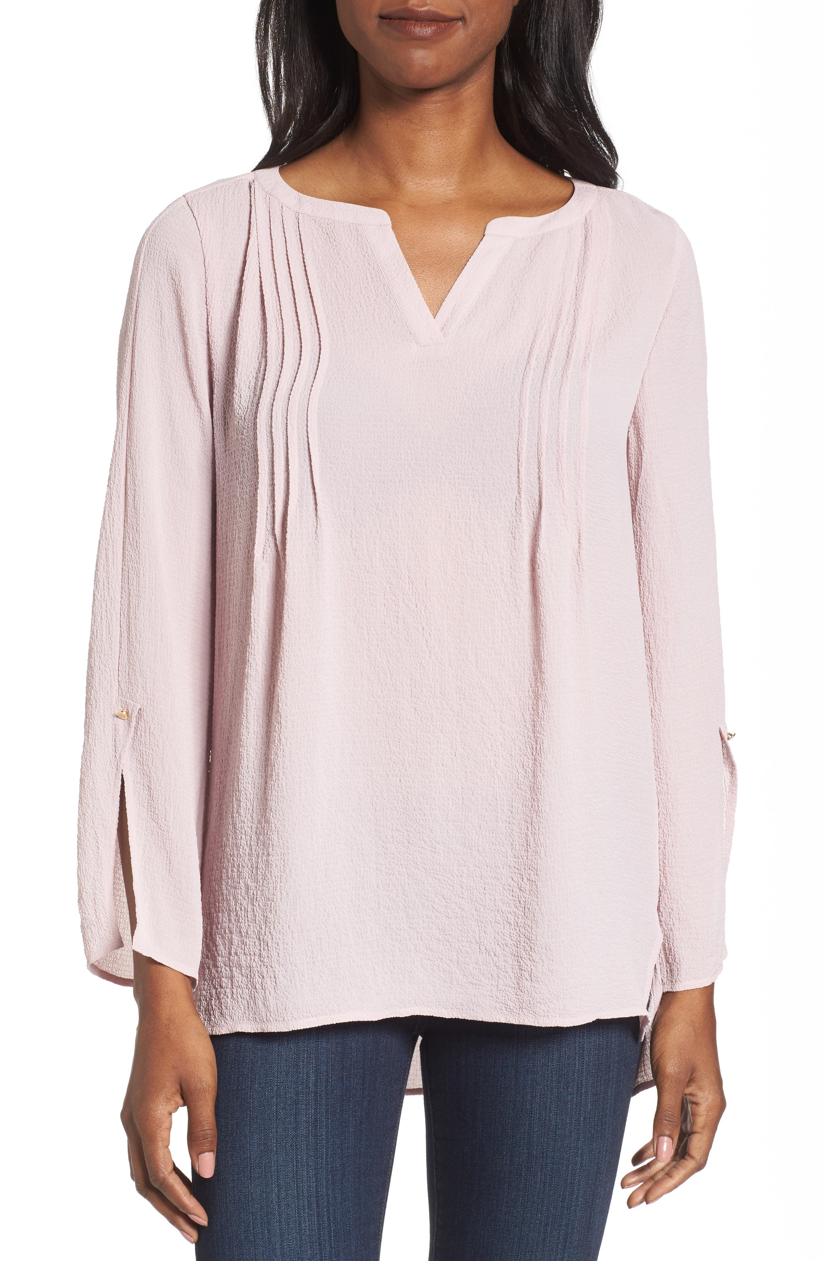 Textured Pintuck Blouse,                         Main,                         color, Light Wisteria