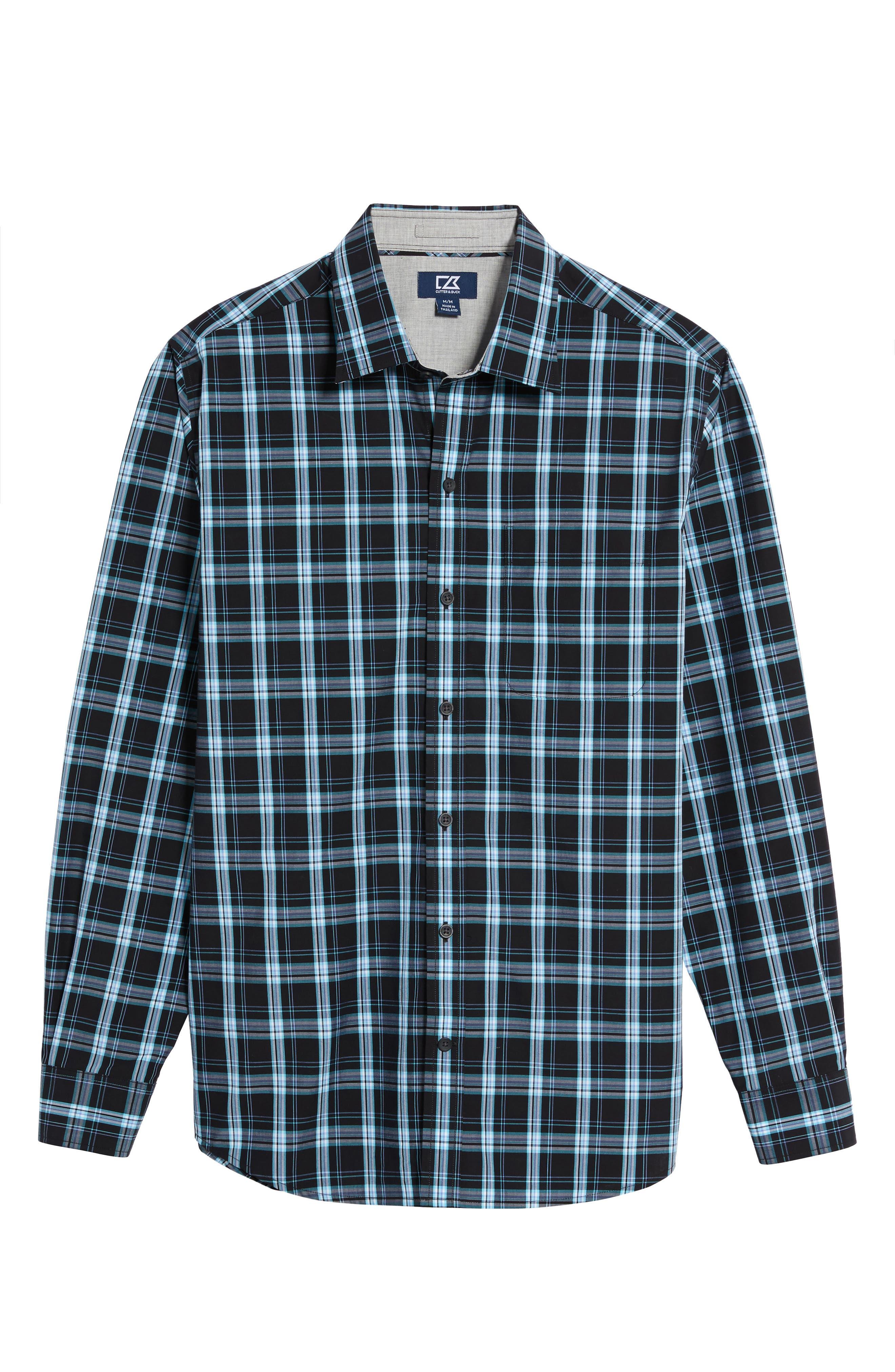 Summerland Non-Iron Plaid Sport Shirt,                             Alternate thumbnail 6, color,                             Wisteria