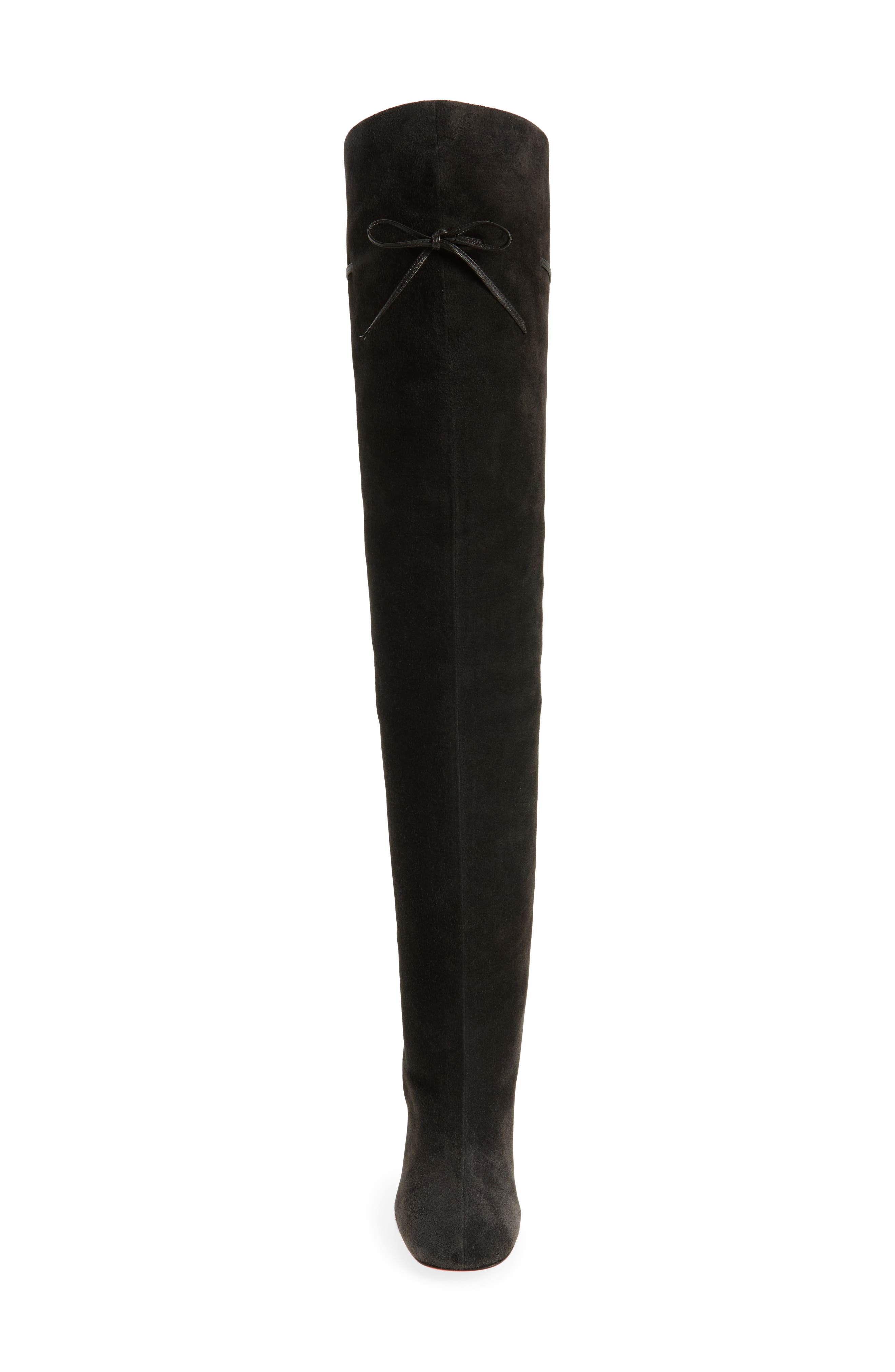 Alta Gant Over the Knee Boot,                             Alternate thumbnail 4, color,                             Grey Suede