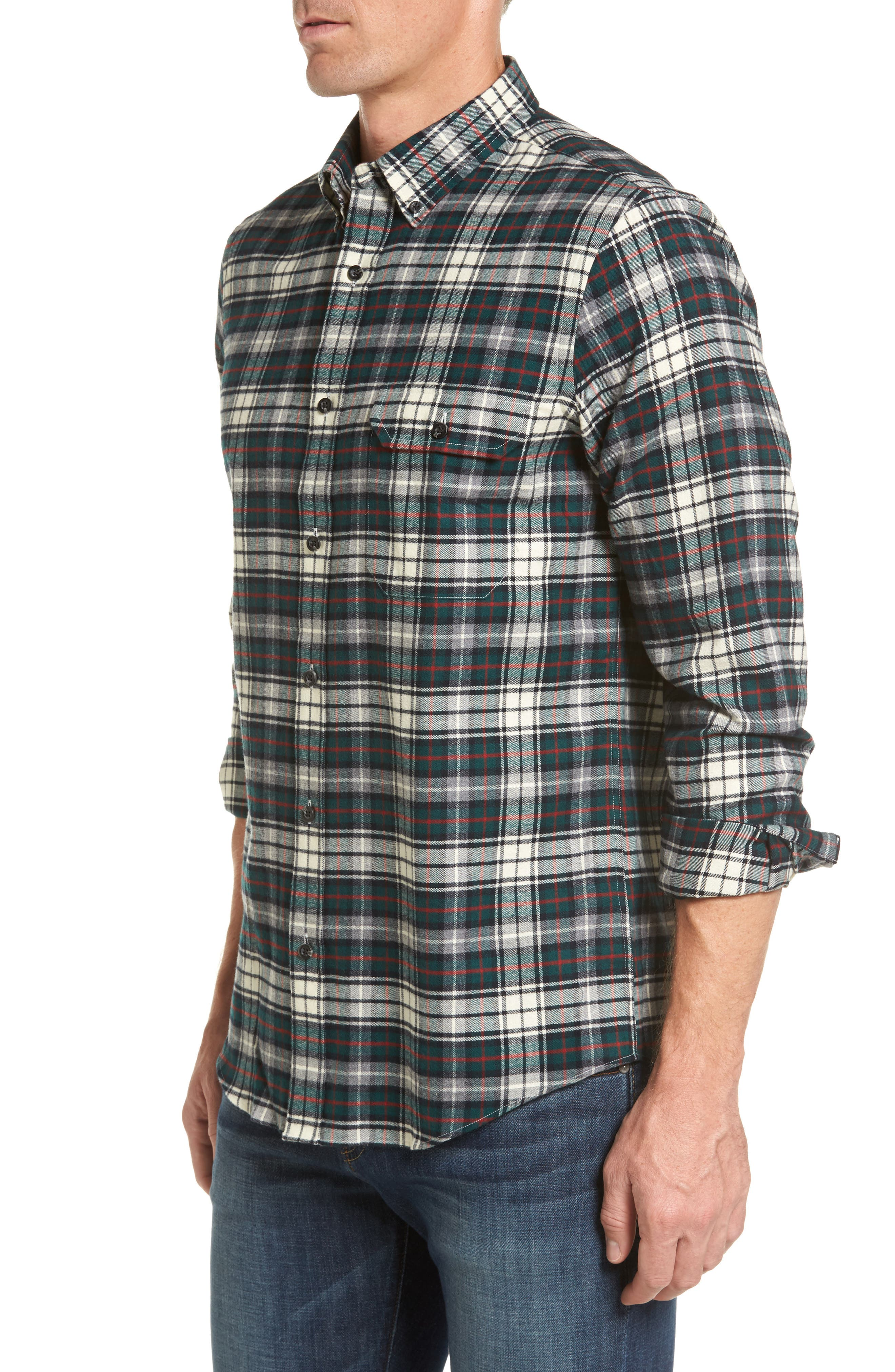 Alternate Image 4  - Nordstrom Men's Shop Regular Fit Plaid Sport Shirt