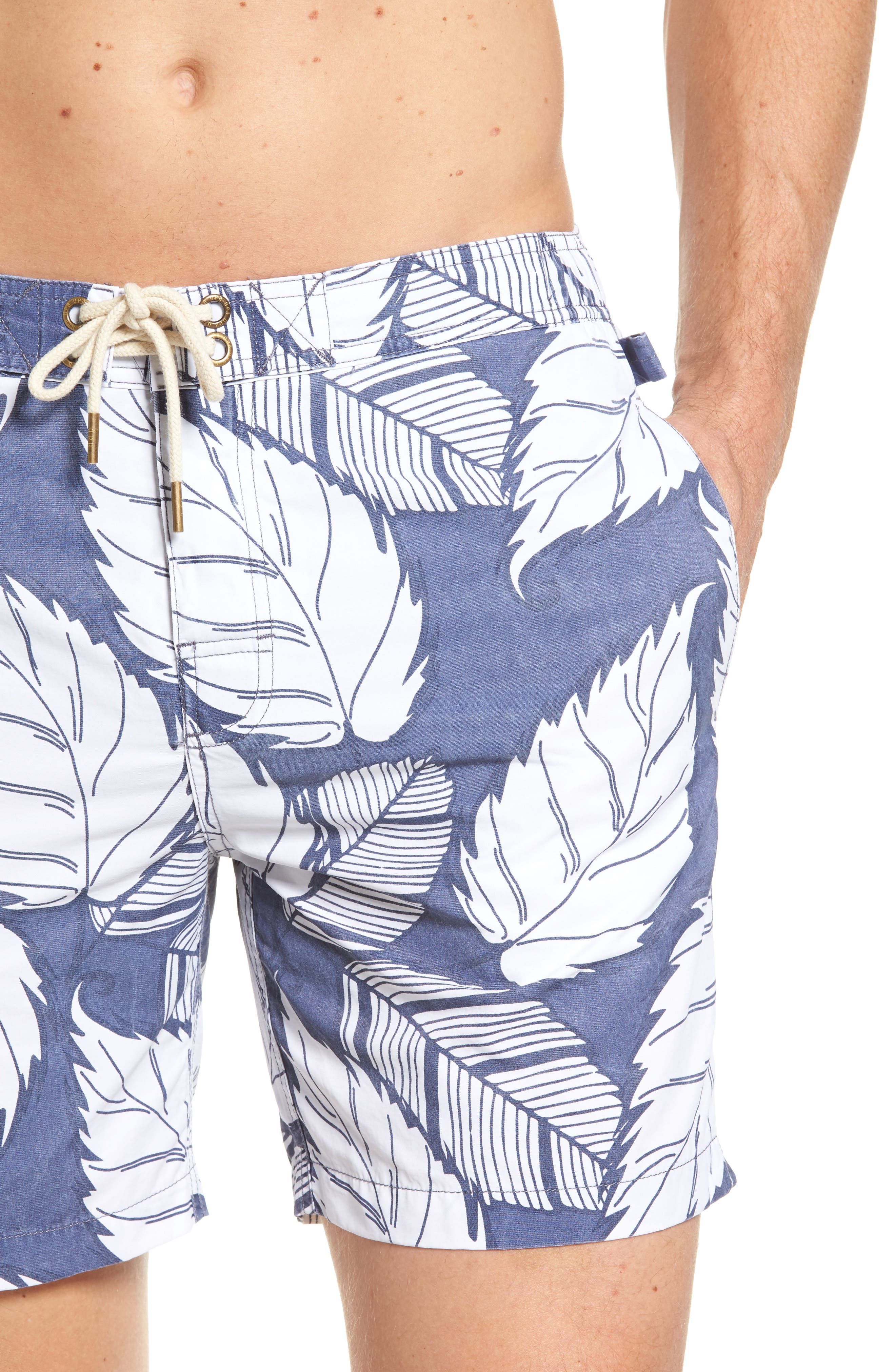 Montauk Board Shorts,                             Alternate thumbnail 4, color,                             Navy