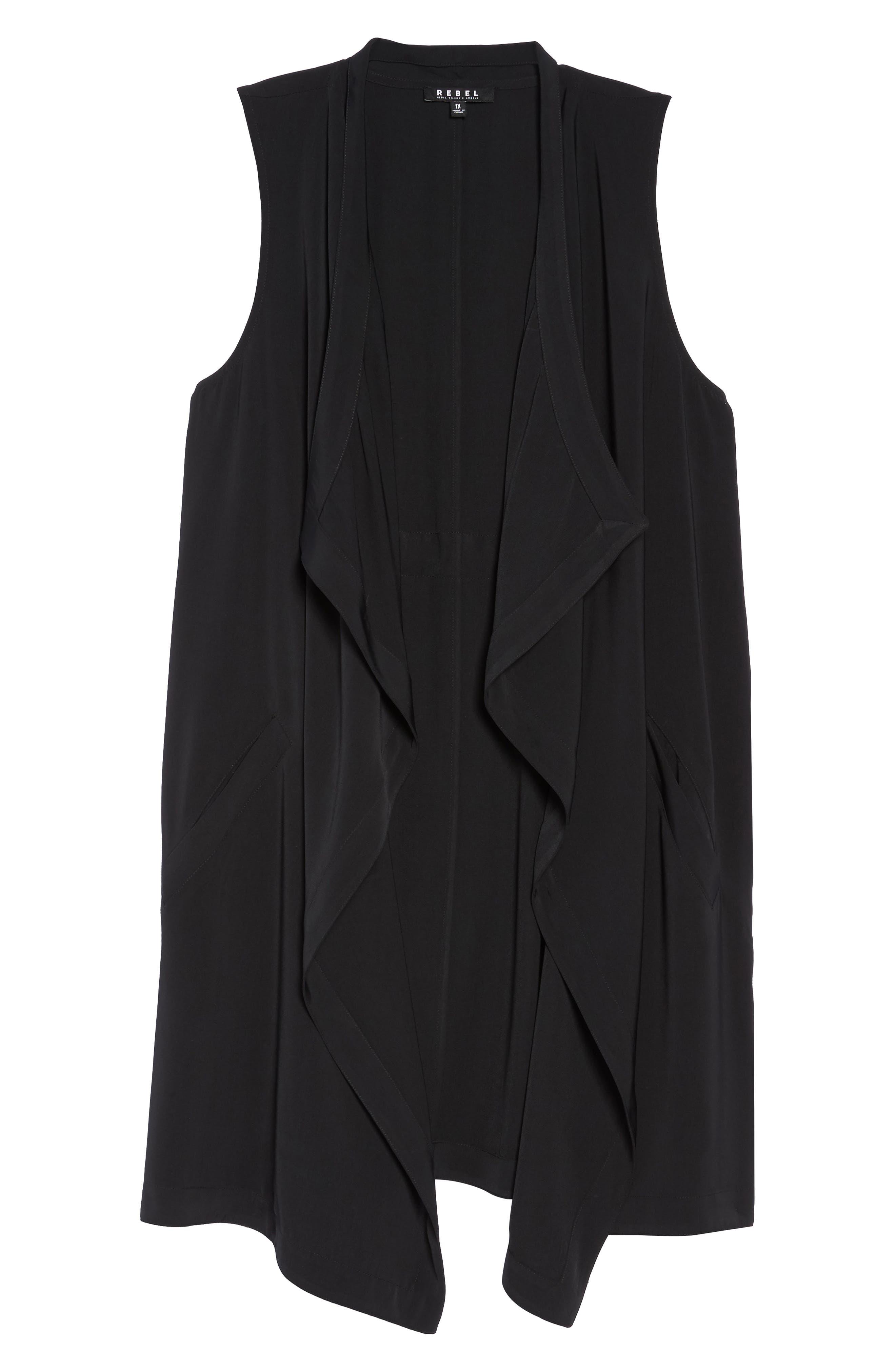 Alternate Image 6  - REBEL WILSON X ANGELS Drape Front Vest (Plus Size)