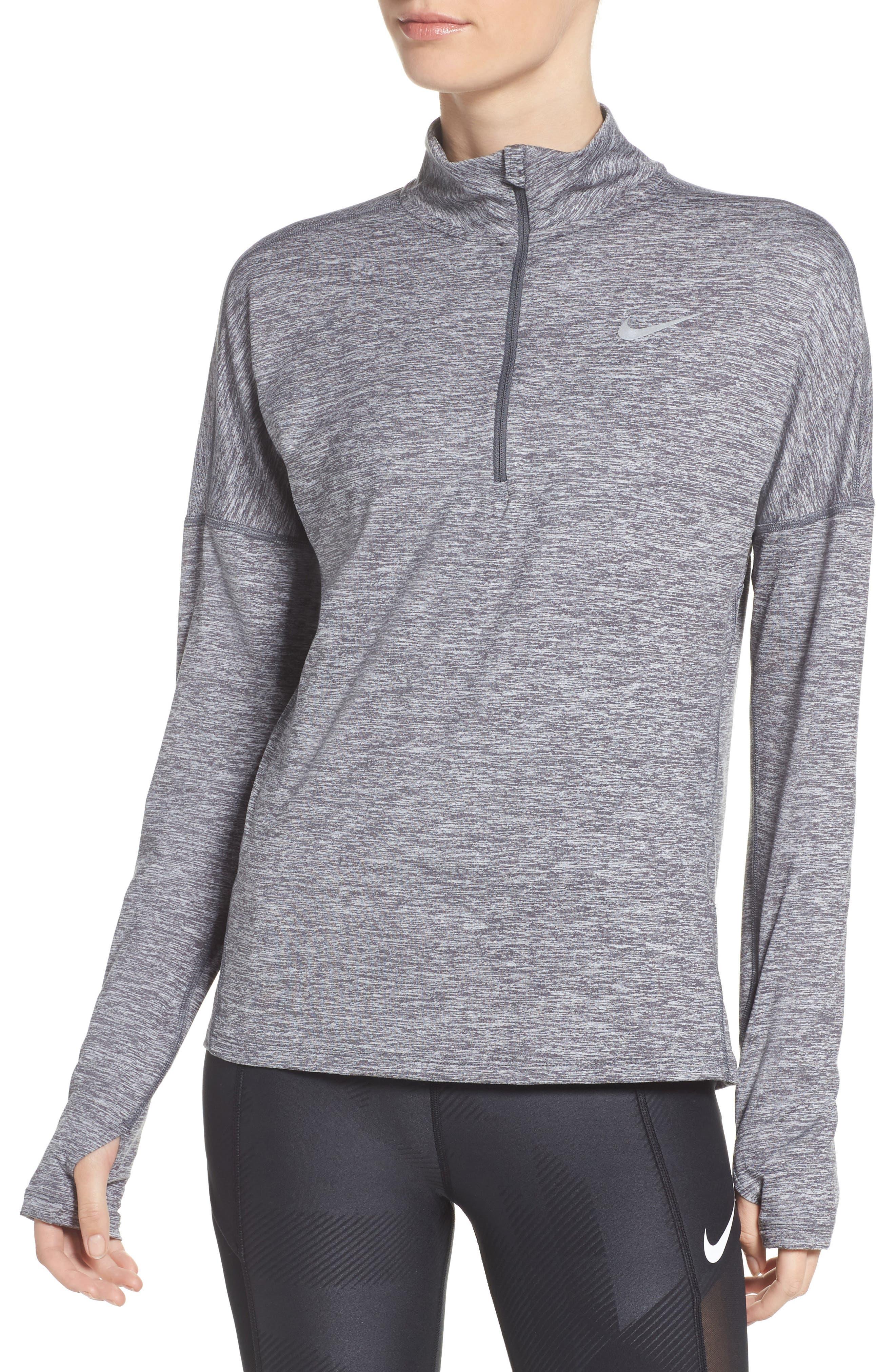 Dry Element Half Zip Top,                         Main,                         color, Dark Grey/ Heather