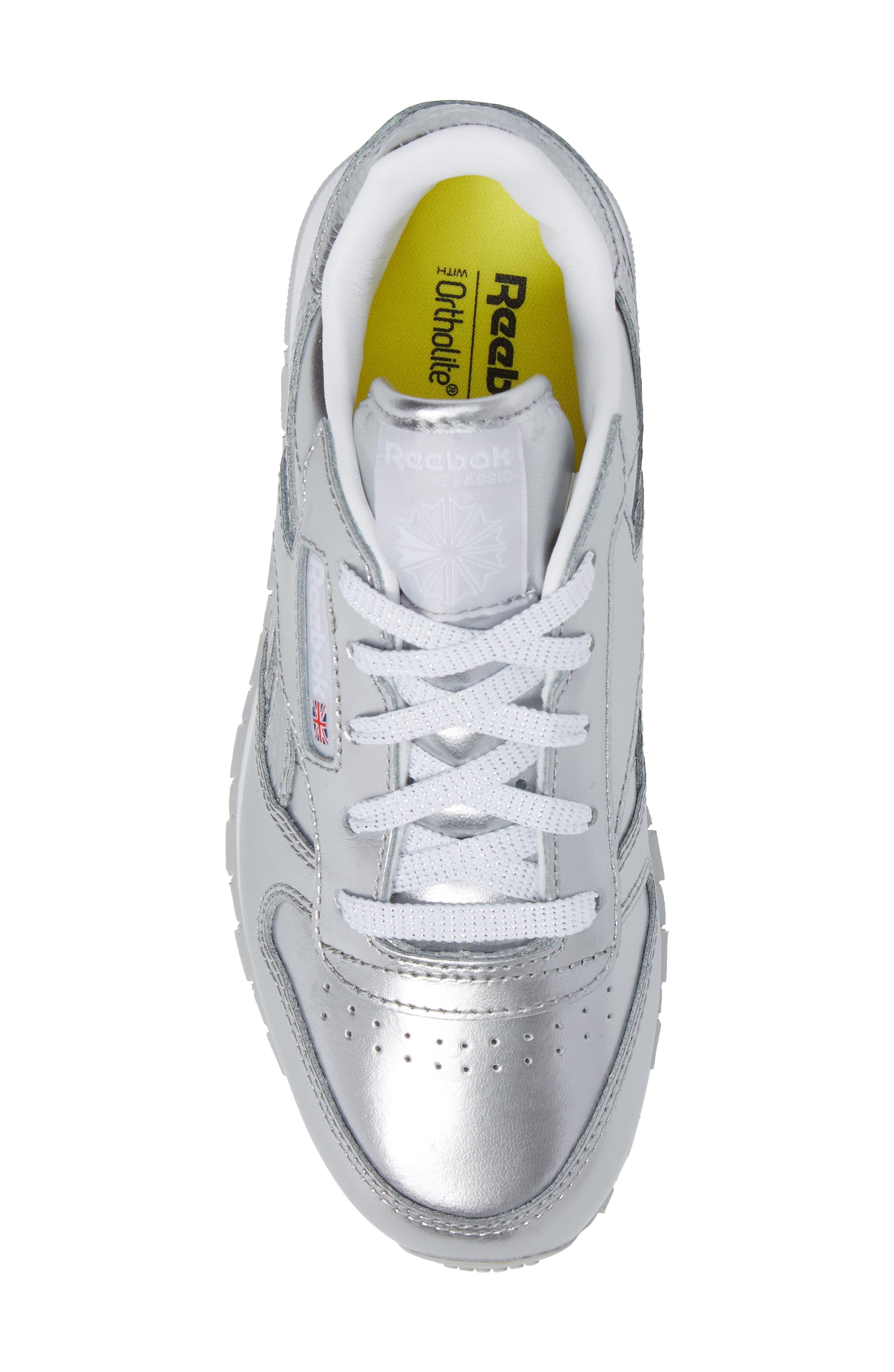 Alternate Image 5  - Reebok Classic Metallic Sneaker (Baby, Walker, Toddler, Little Kid & Big Kid)