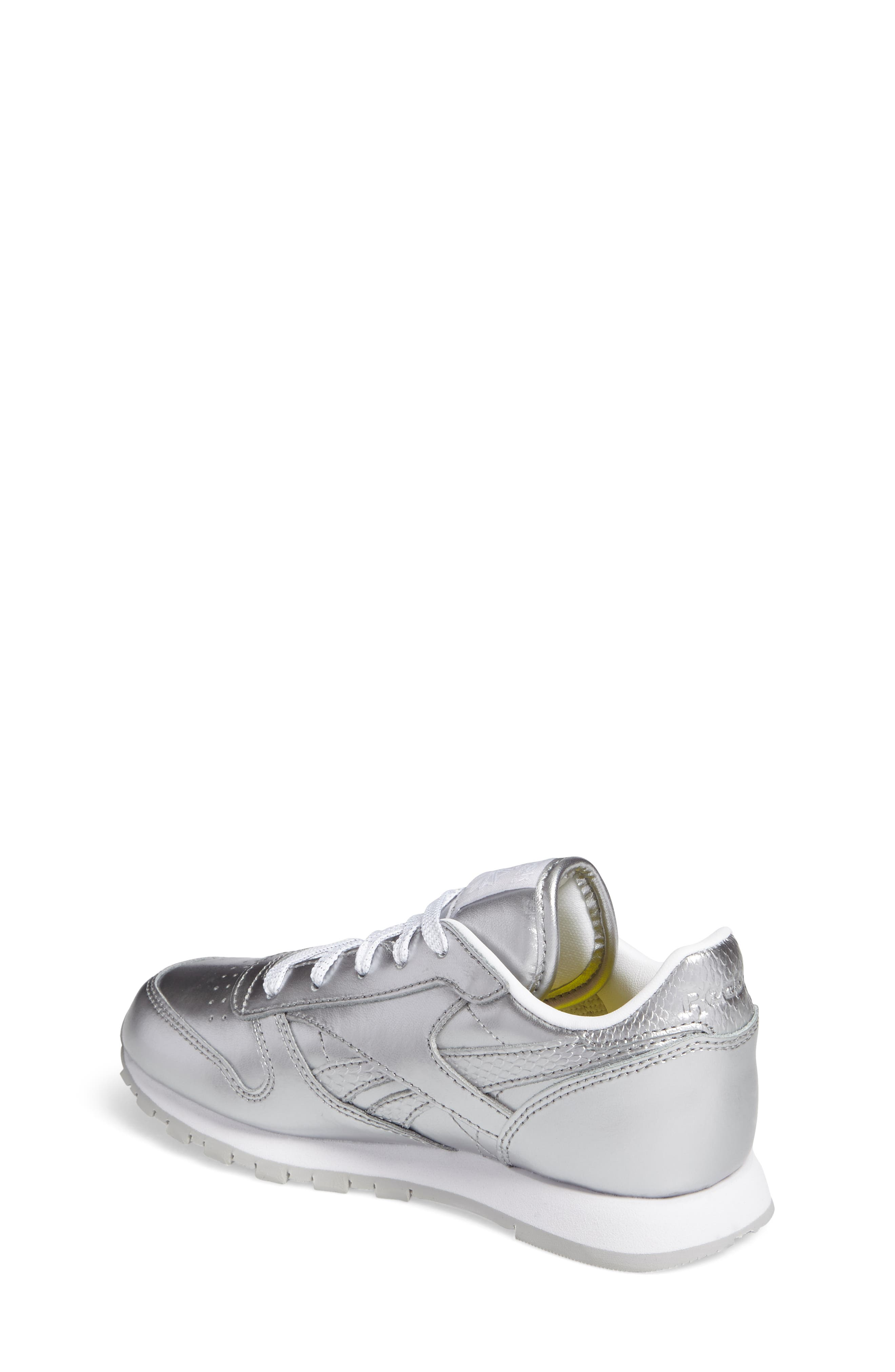 Alternate Image 2  - Reebok Classic Metallic Sneaker (Baby, Walker, Toddler, Little Kid & Big Kid)