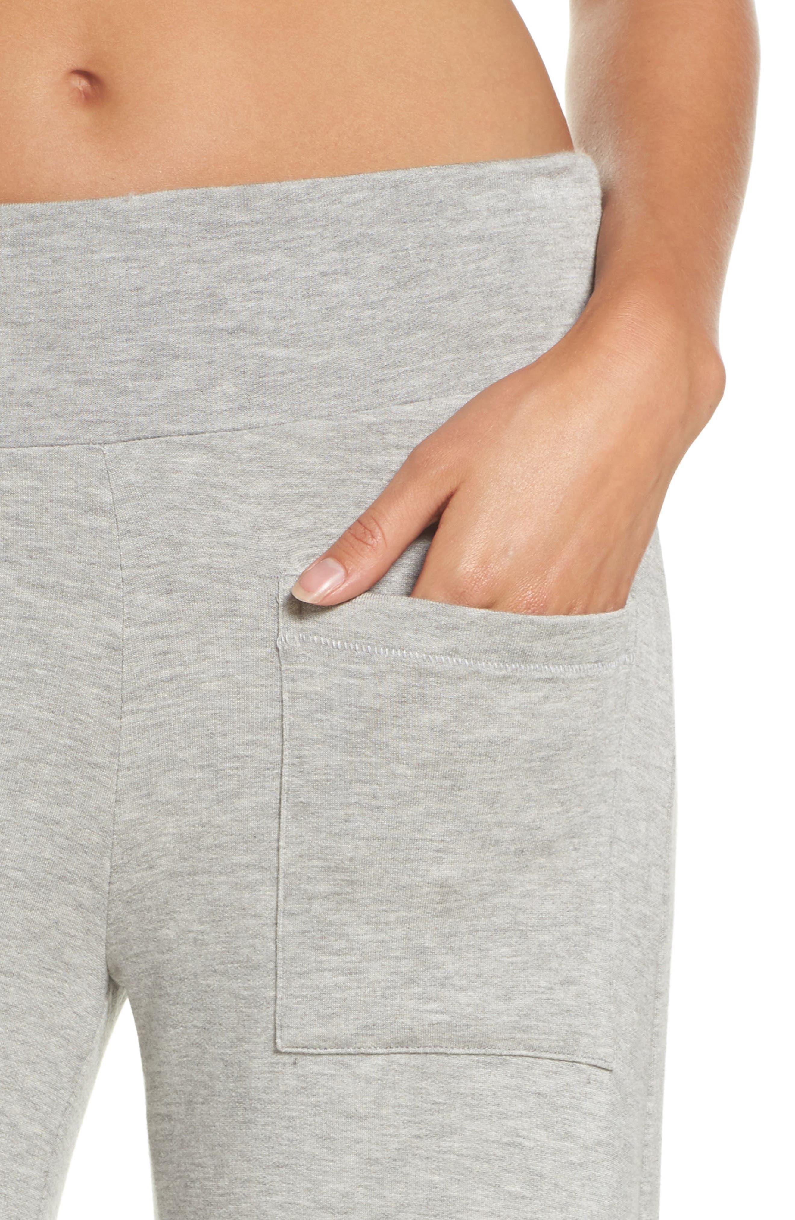 Runway Culotte Sweatpants,                             Alternate thumbnail 4, color,                             Light Heather Grey