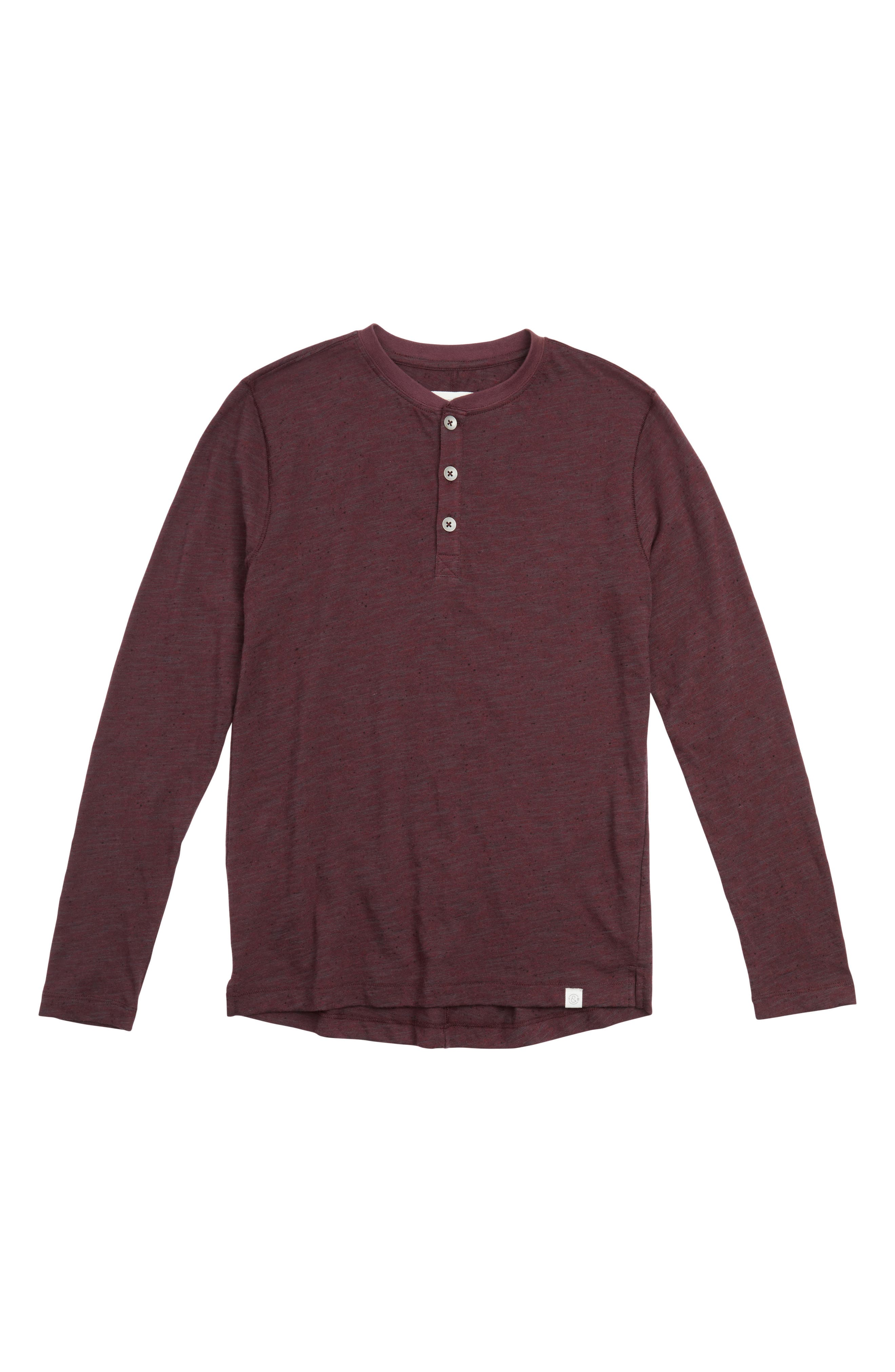 Treasure & Bond Slub Knit Henley (Big Boys)