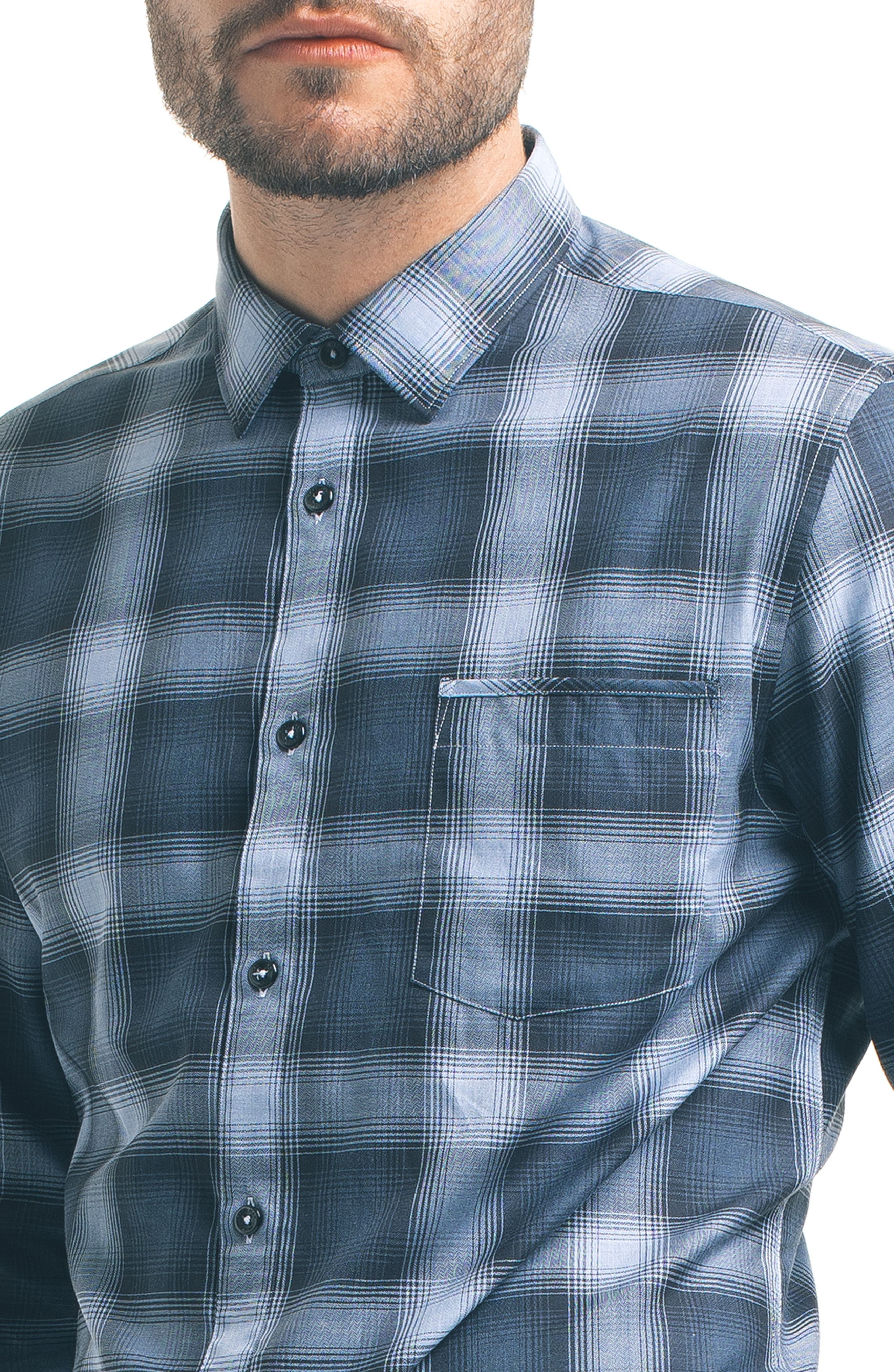 Alternate Image 4  - Good Man Brand Slim Fit Plaid Sport Shirt