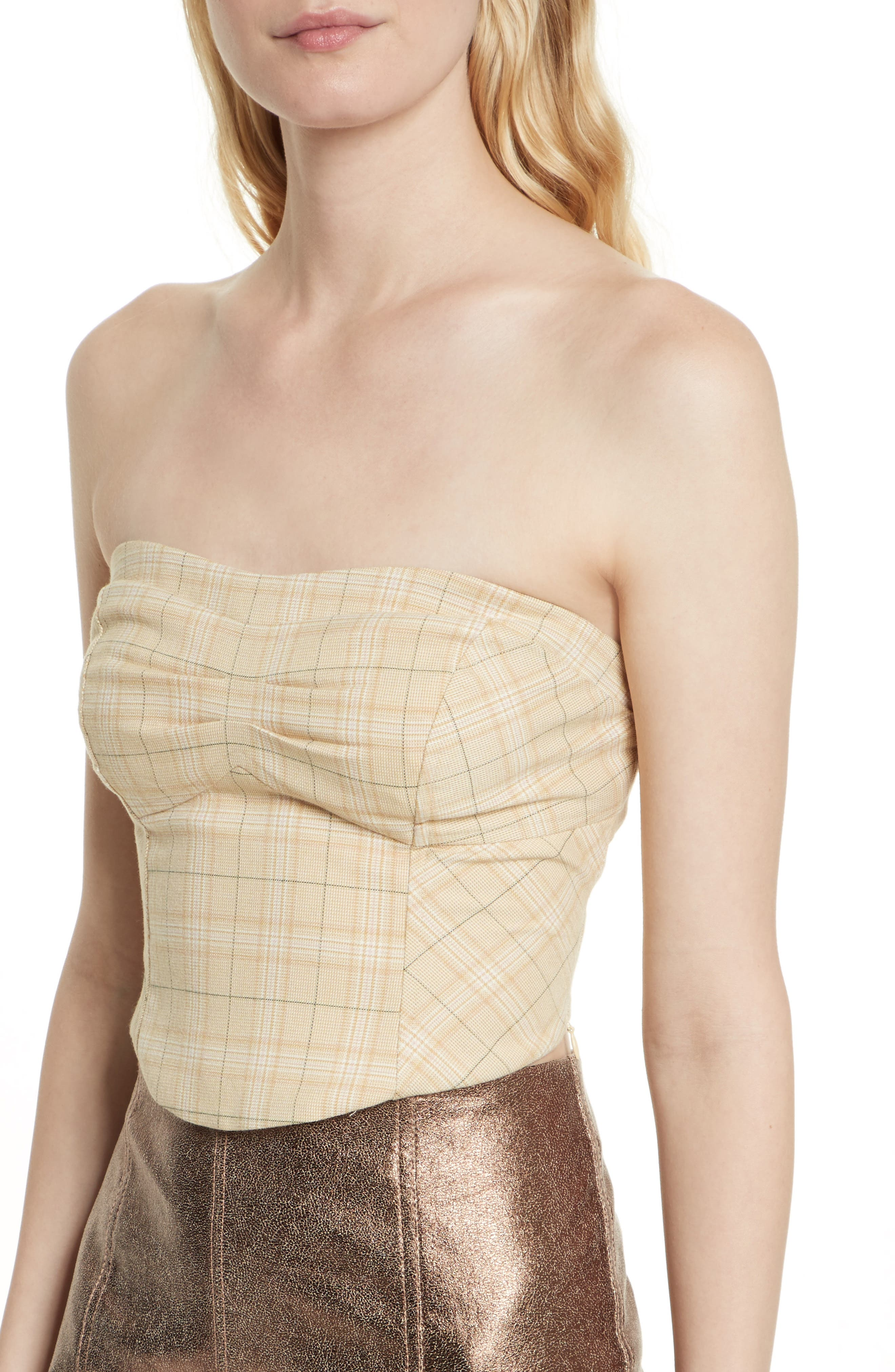 Out West Corset Top,                             Alternate thumbnail 6, color,                             Taupe