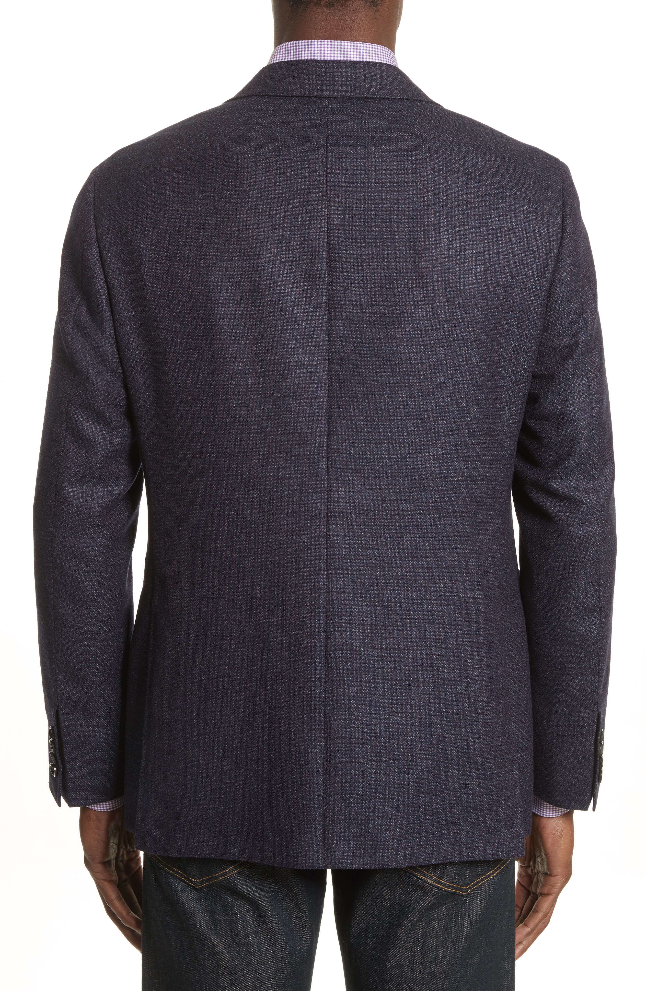 Alternate Image 2  - Canali Kei Coat Classic Fit Wool Blazer
