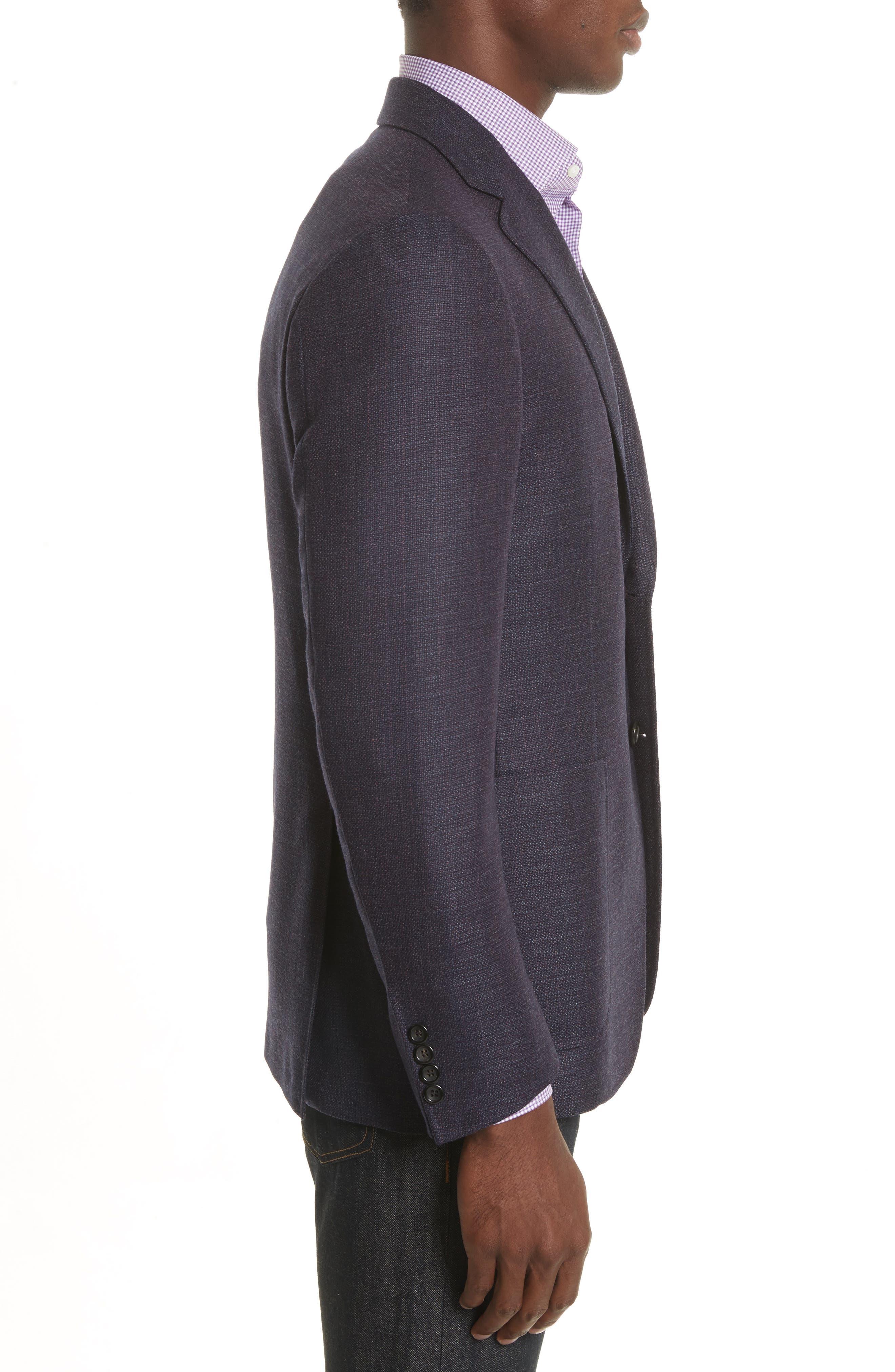 Kei Coat Classic Fit Wool Blazer,                             Alternate thumbnail 3, color,                             Red