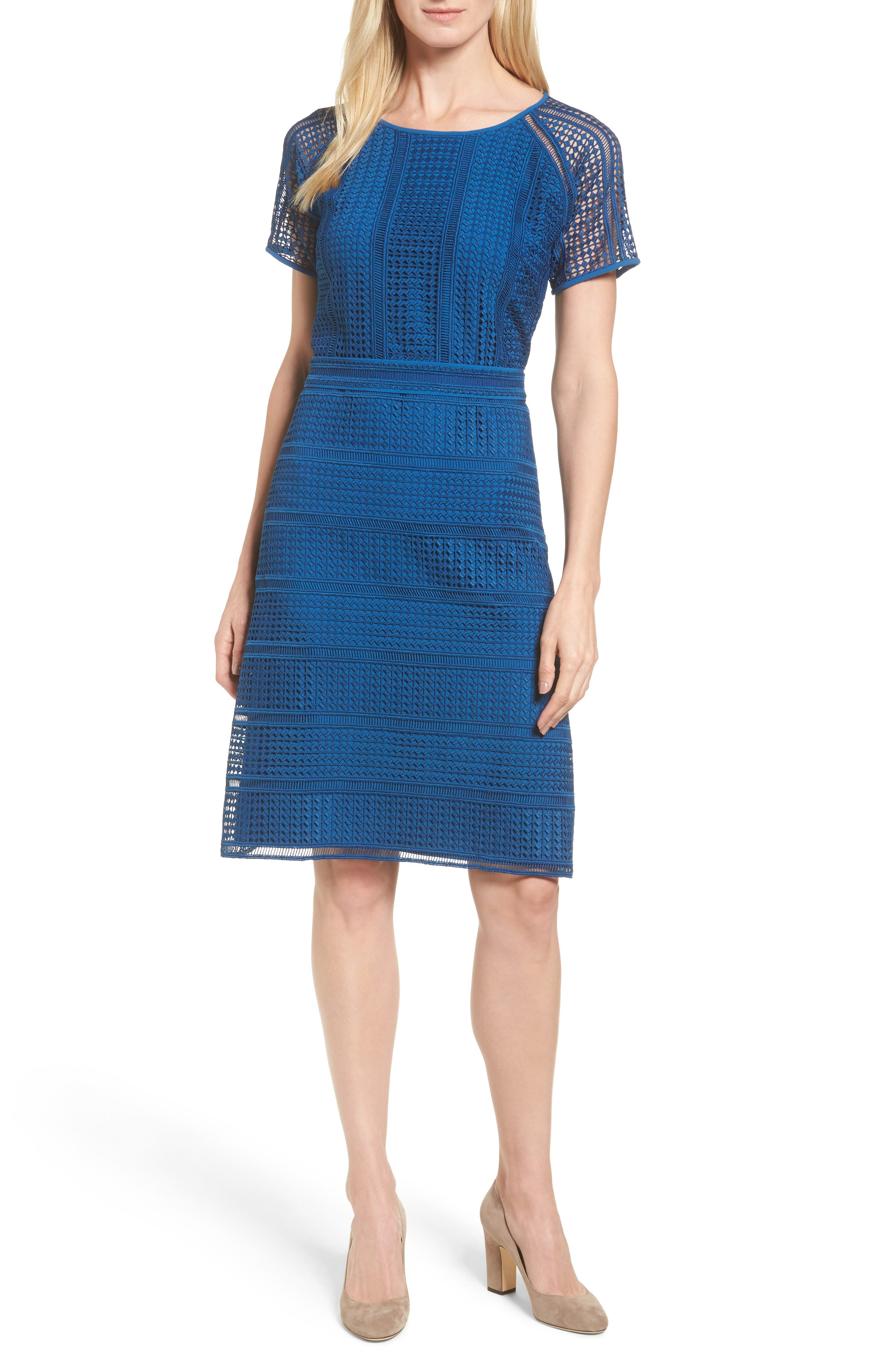 BOSS Domaro Lace A-Line Dress
