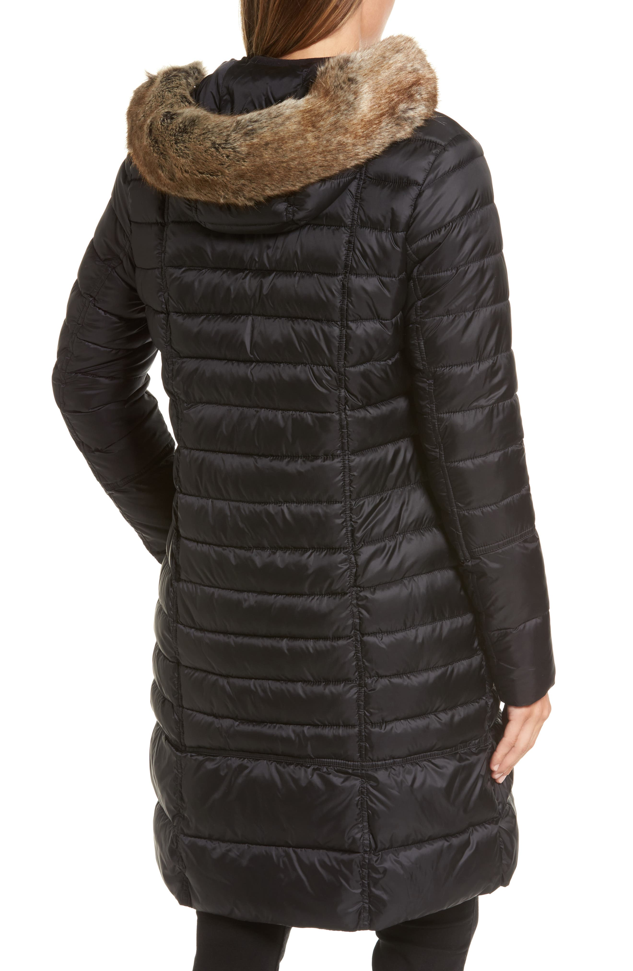 Alternate Image 2  - Barbour Fortrose Hooded Quilted Coat with Faux Fur Trim