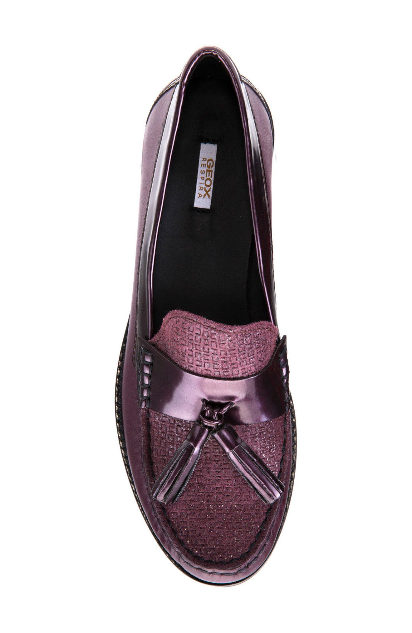 Promethea Loafer,                             Alternate thumbnail 6, color,                             Prune Leather