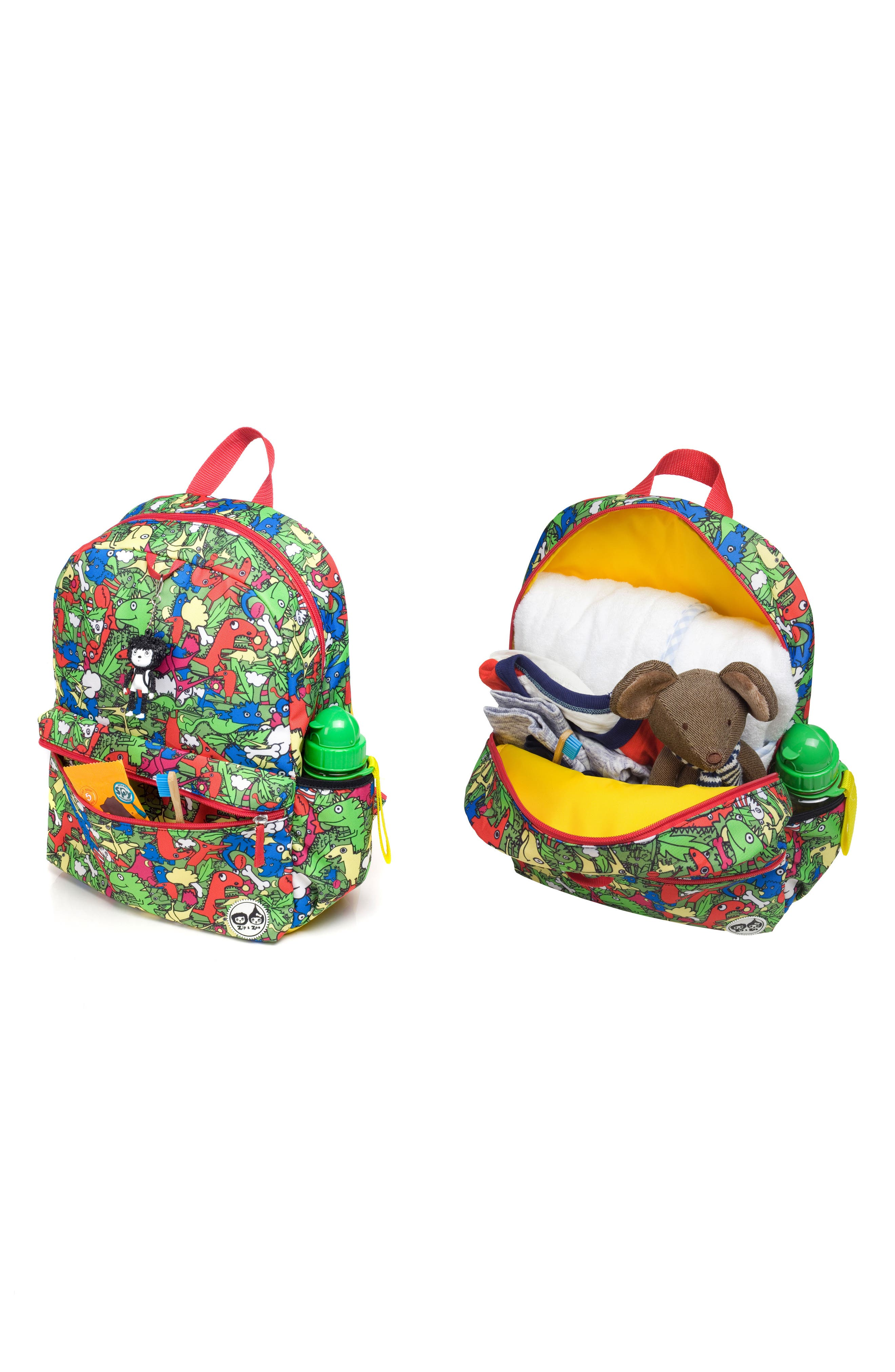 Zip & Zoe Junior Backpack Set,                             Alternate thumbnail 6, color,                             Dino Multi/ Dylan