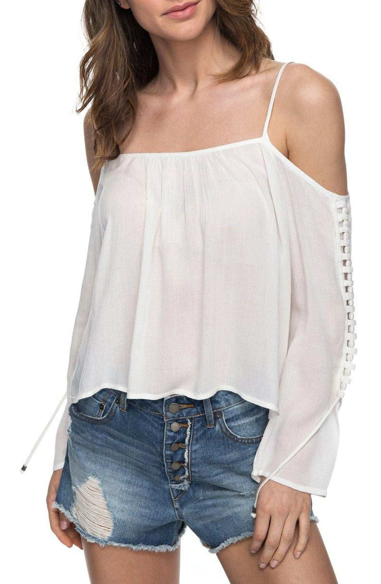Alternate Image 1 Selected - Roxy Paradise Ocean Off the Shoulder Top