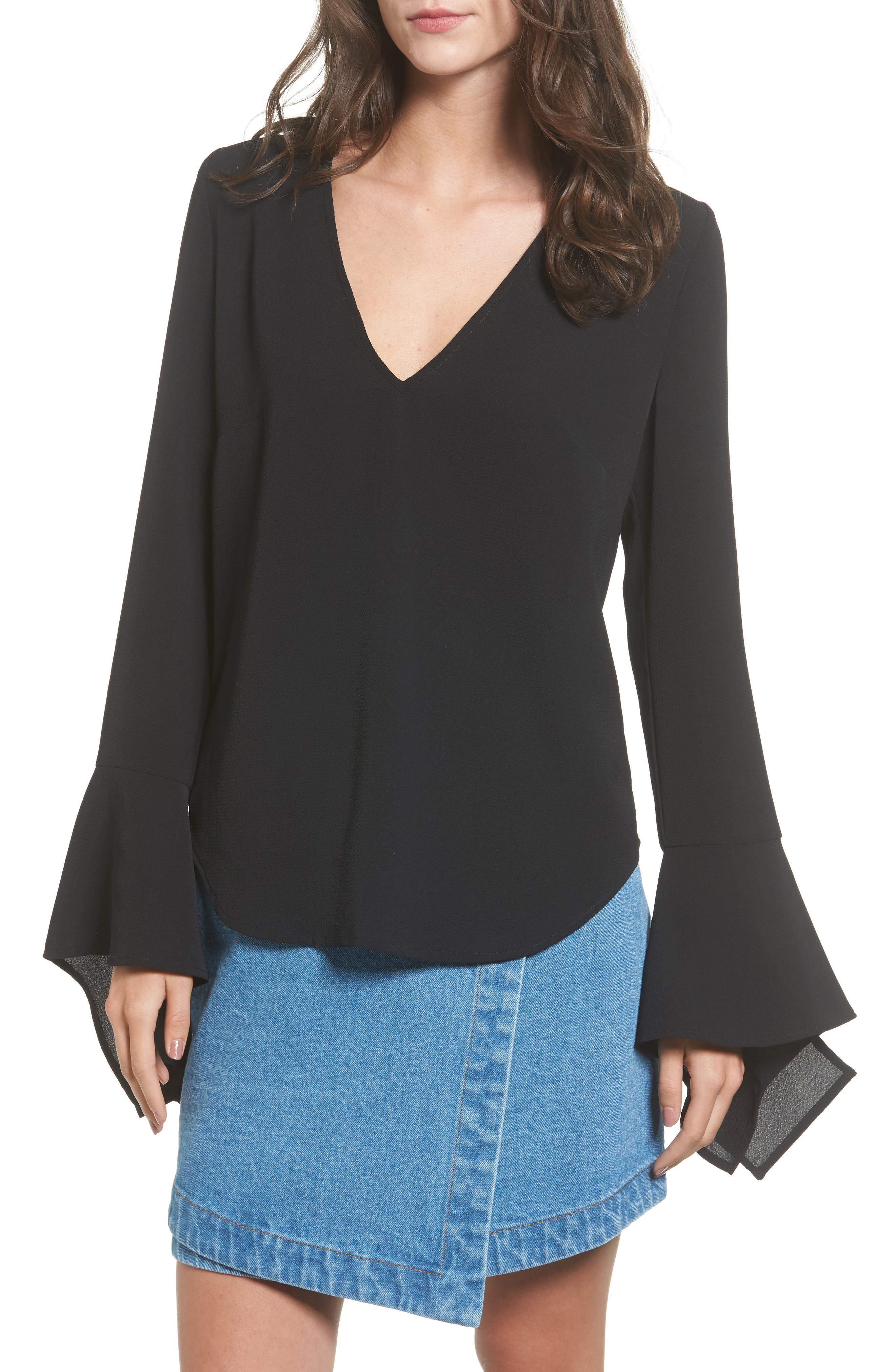 The Fifth Label The Homeward Bell Sleeve Top