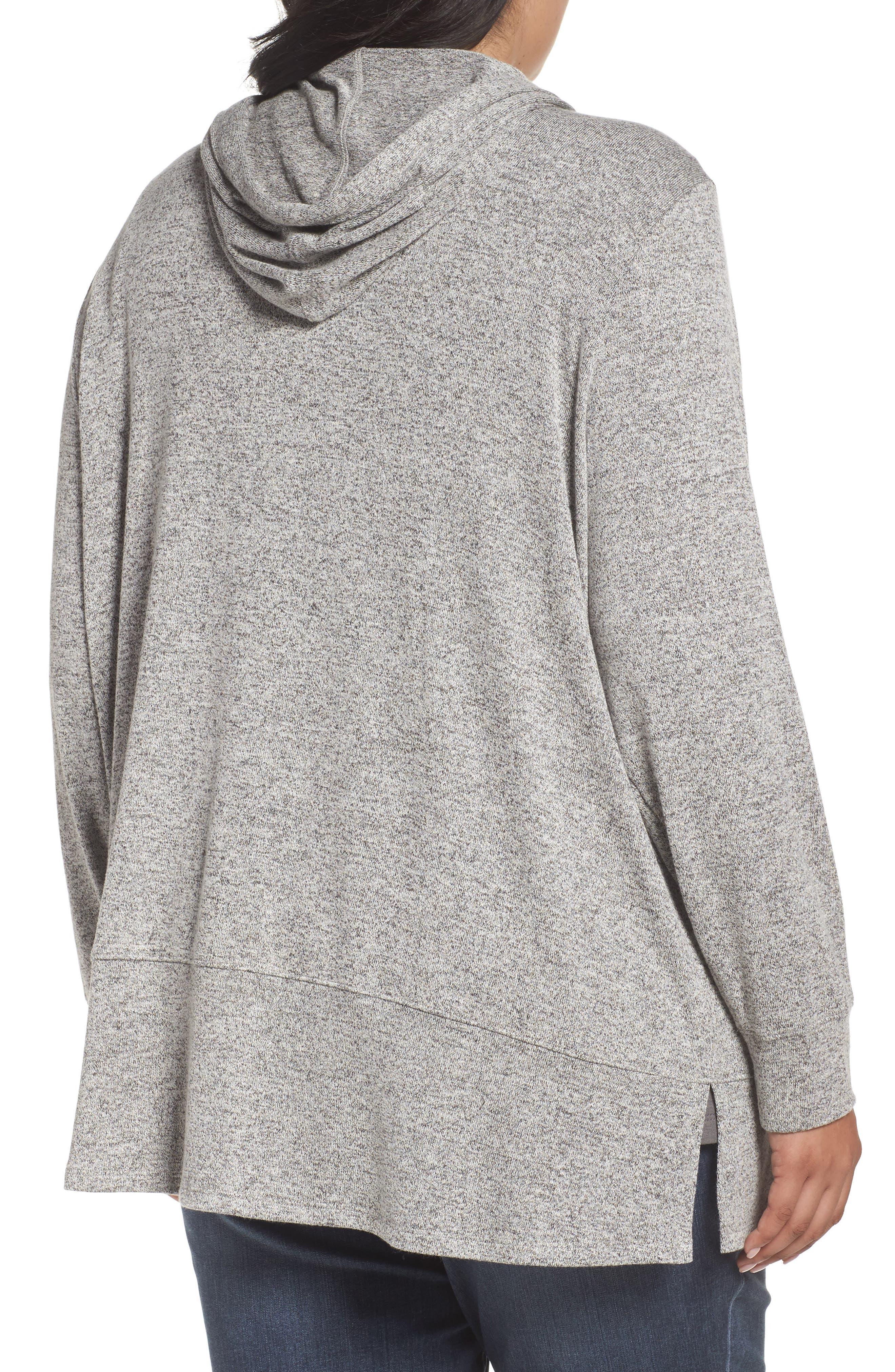 Alternate Image 2  - Sejour Zip Front Hoodie (Plus Size)