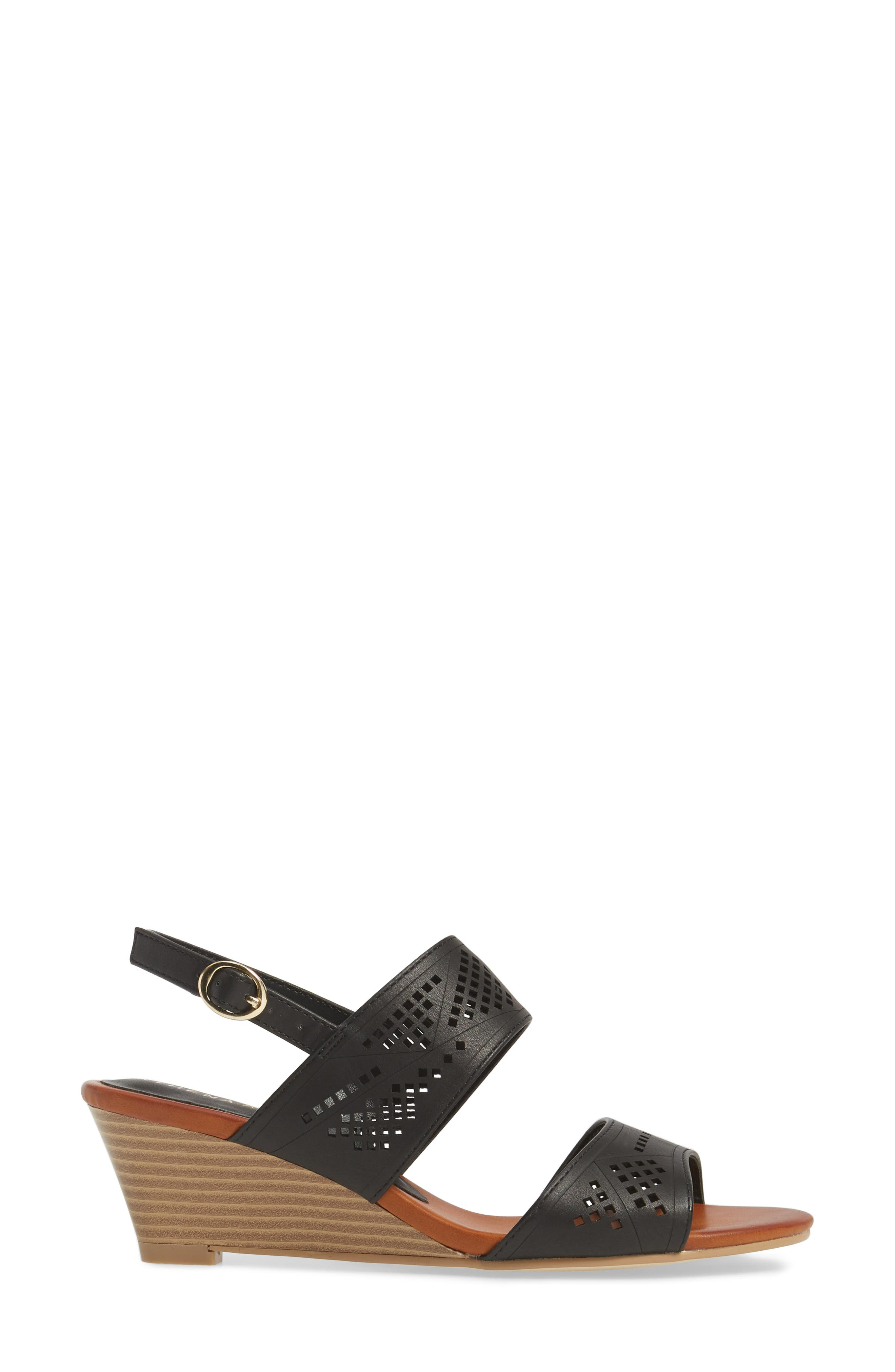 Alternate Image 3  - Athena Alexander Sparce Perforated Wedge Sandal (Women)