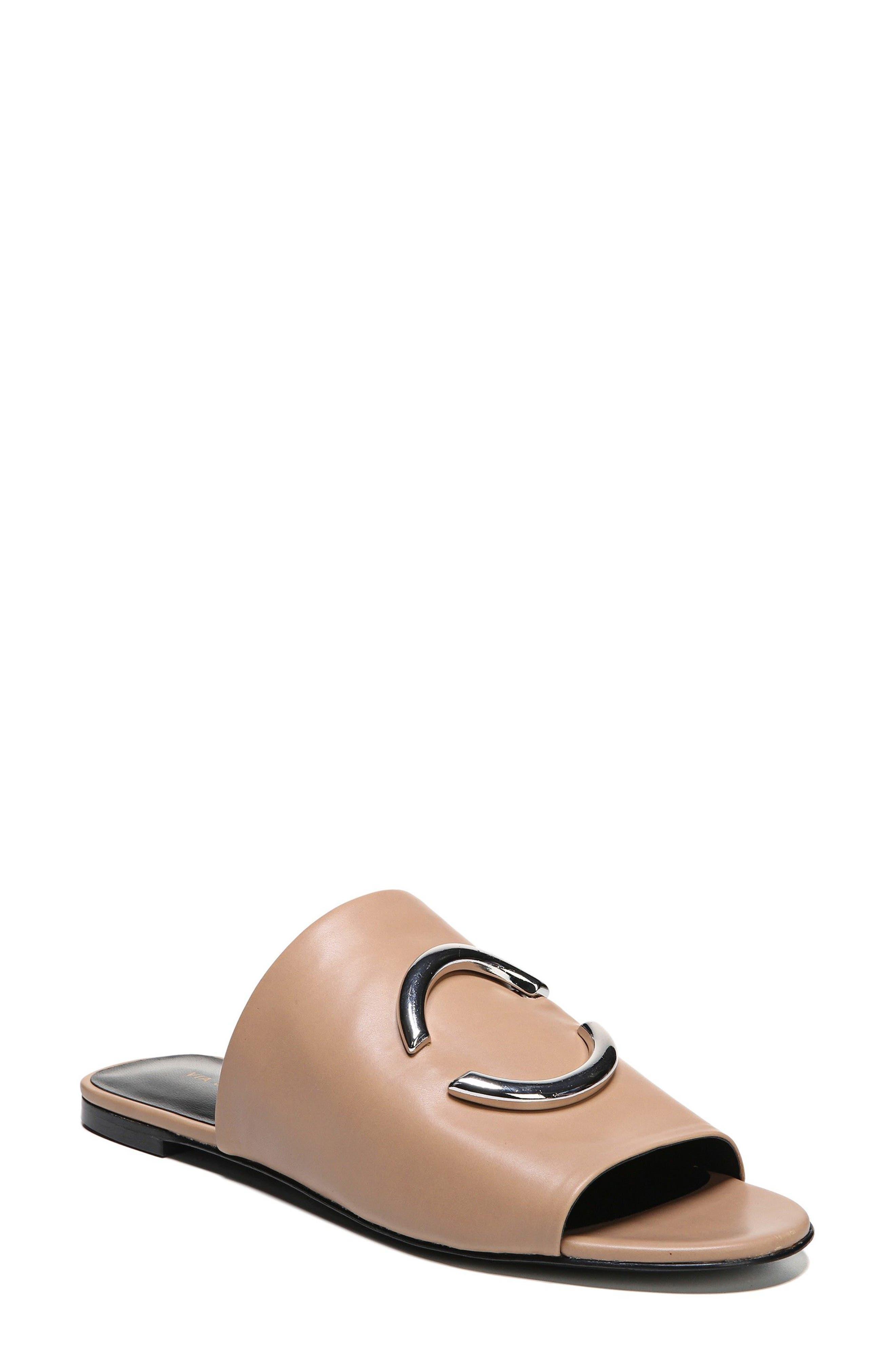 Helena Slide Sandal,                             Main thumbnail 1, color,                             Desert Leather