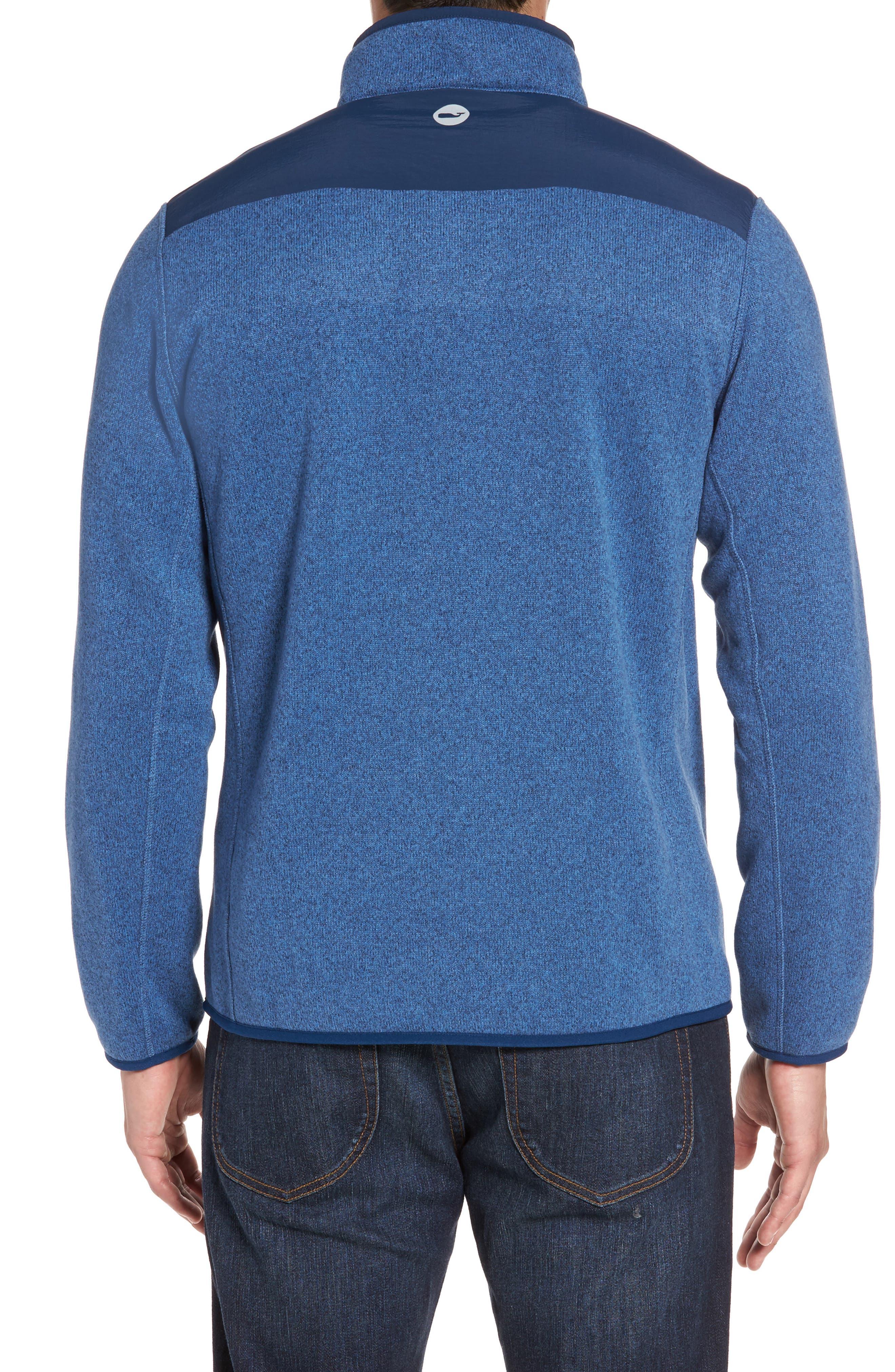 Alternate Image 2  - vineyard vines Shep Quarter Zip Fleece Sweater