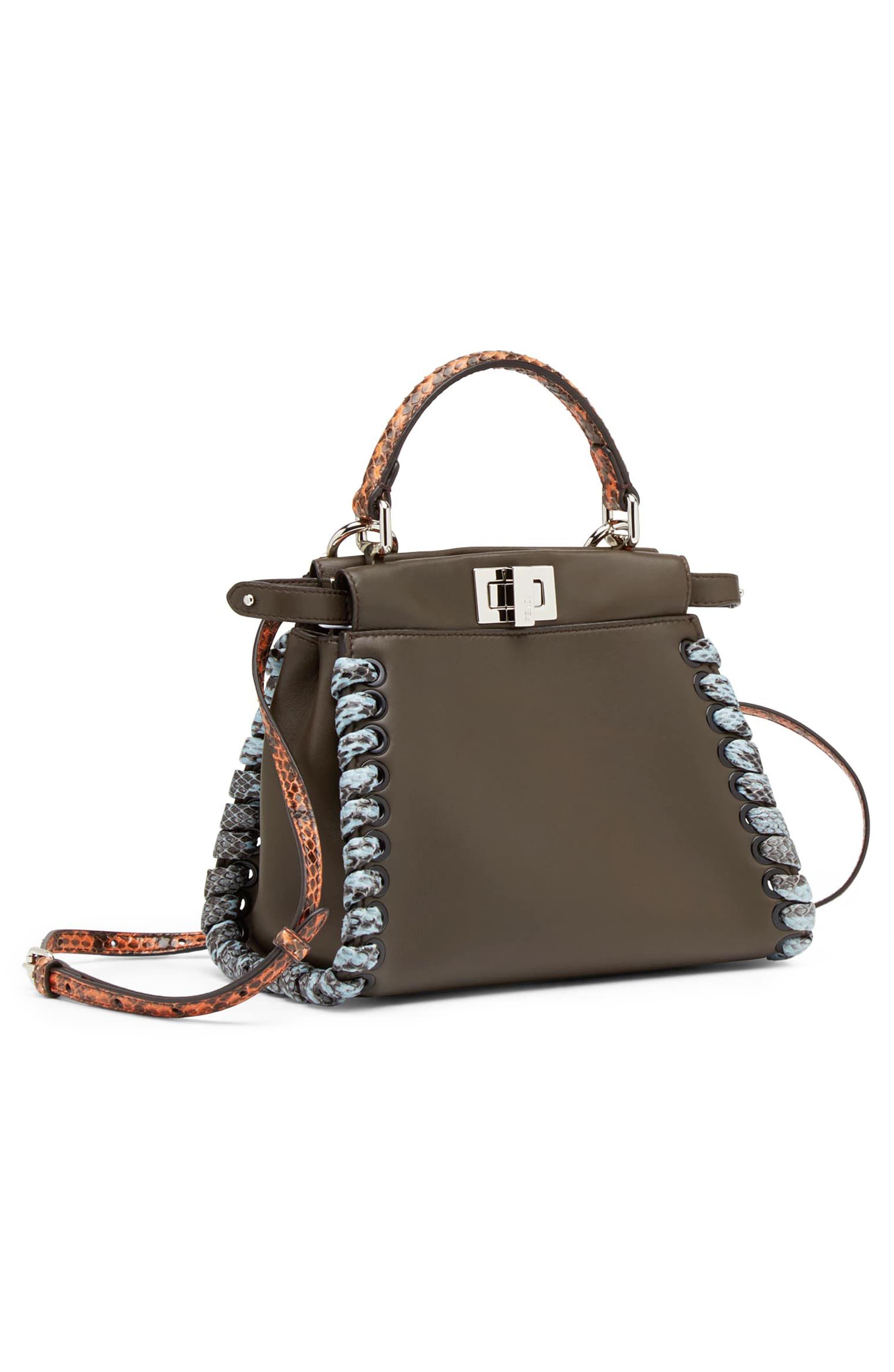 Alternate Image 3  - Fendi Mini Peekaboo Leather & Genuine Snakeskin Satchel