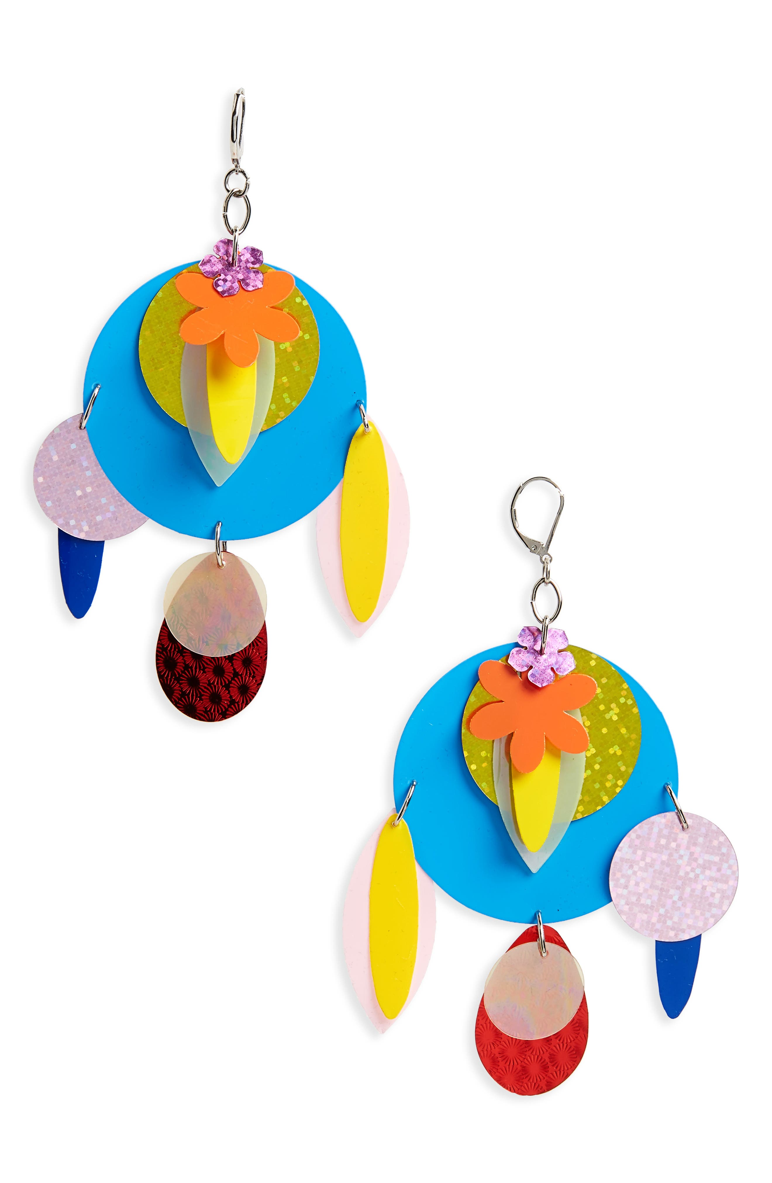 Sequin Statement Earrings,                         Main,                         color, Multi