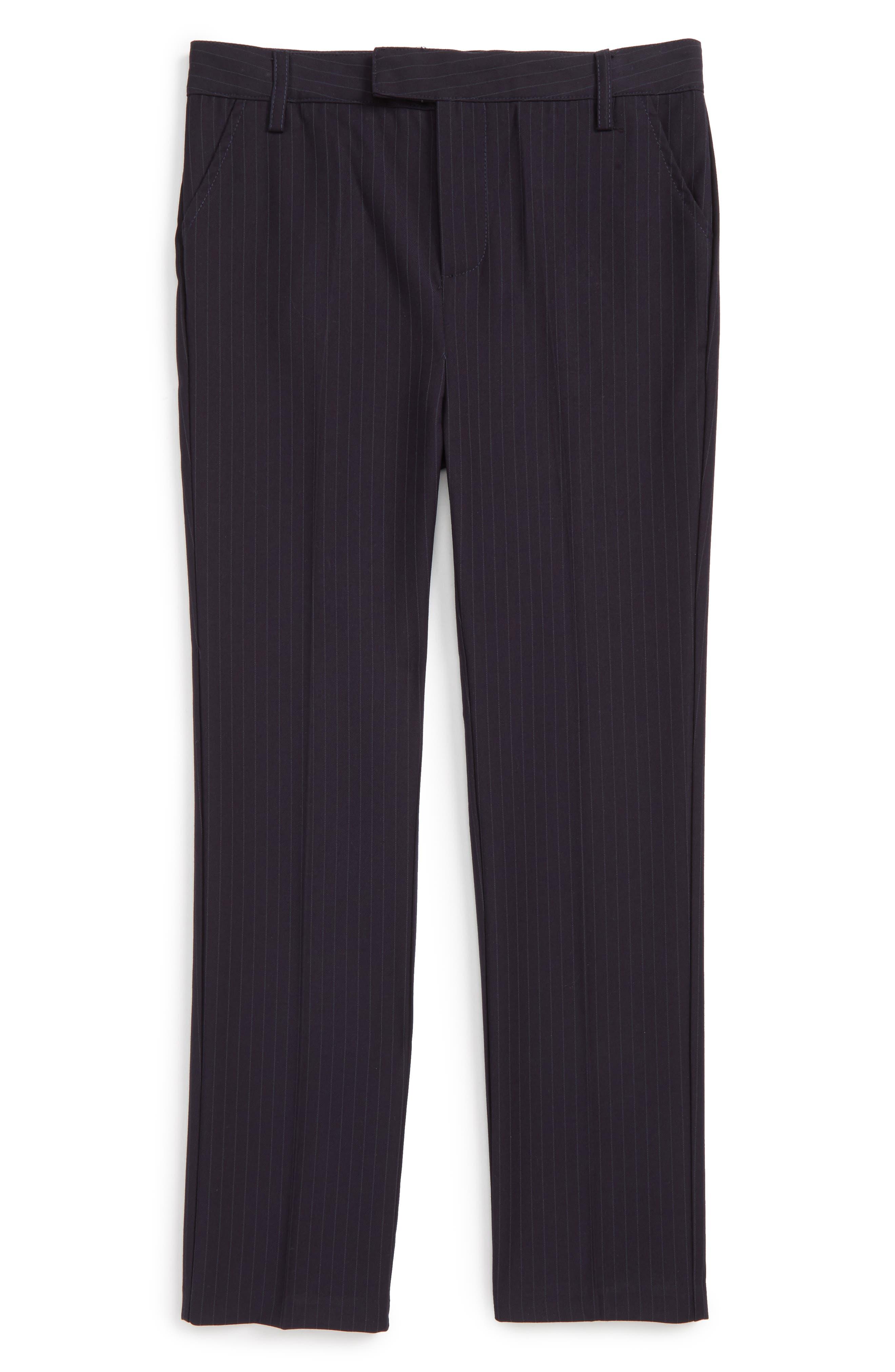 Harry Suit Pants,                         Main,                         color, Navy Pinstripe