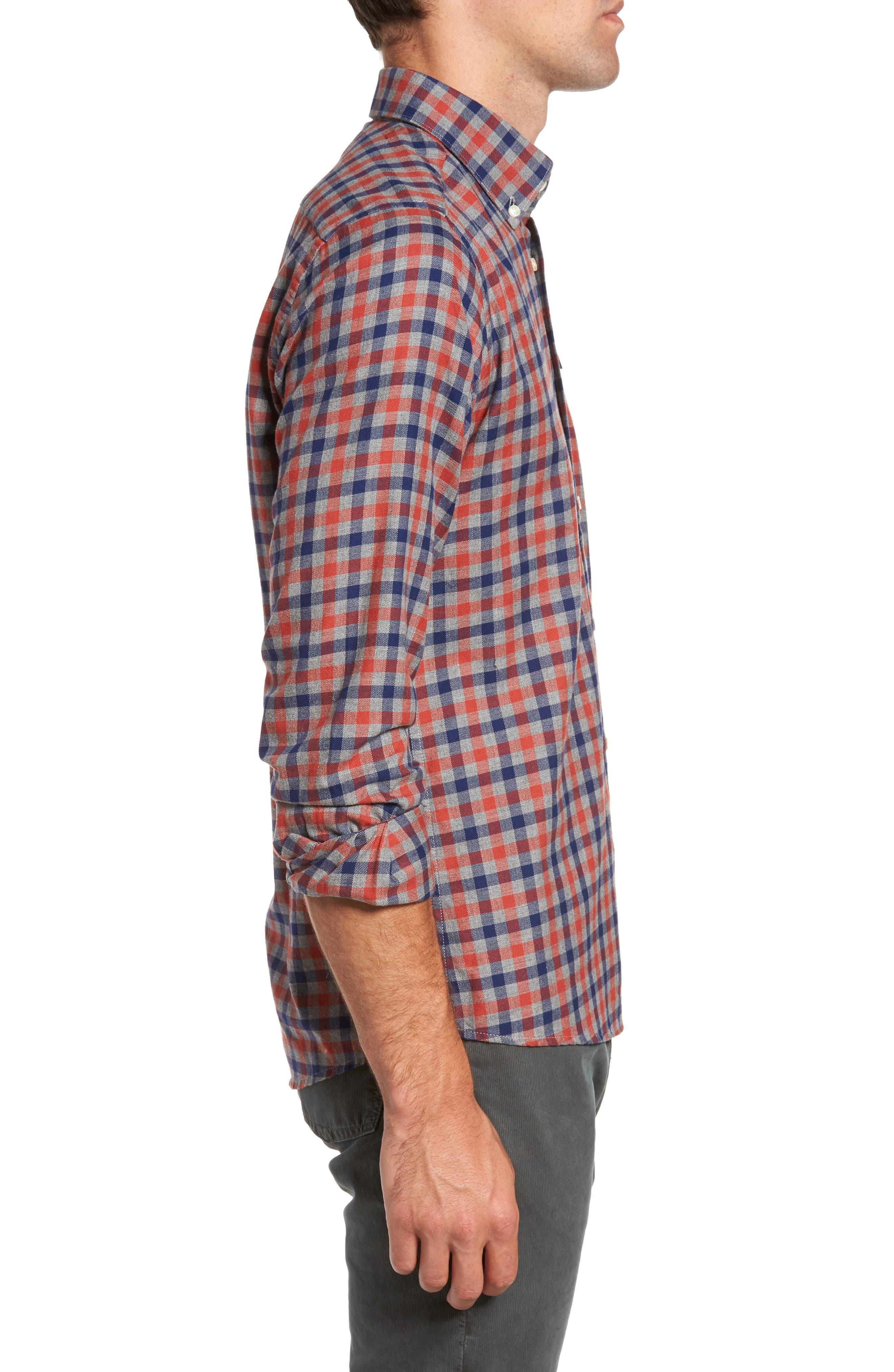 Alternate Image 3  - Barbour Moss Check Flannel Sport Shirt