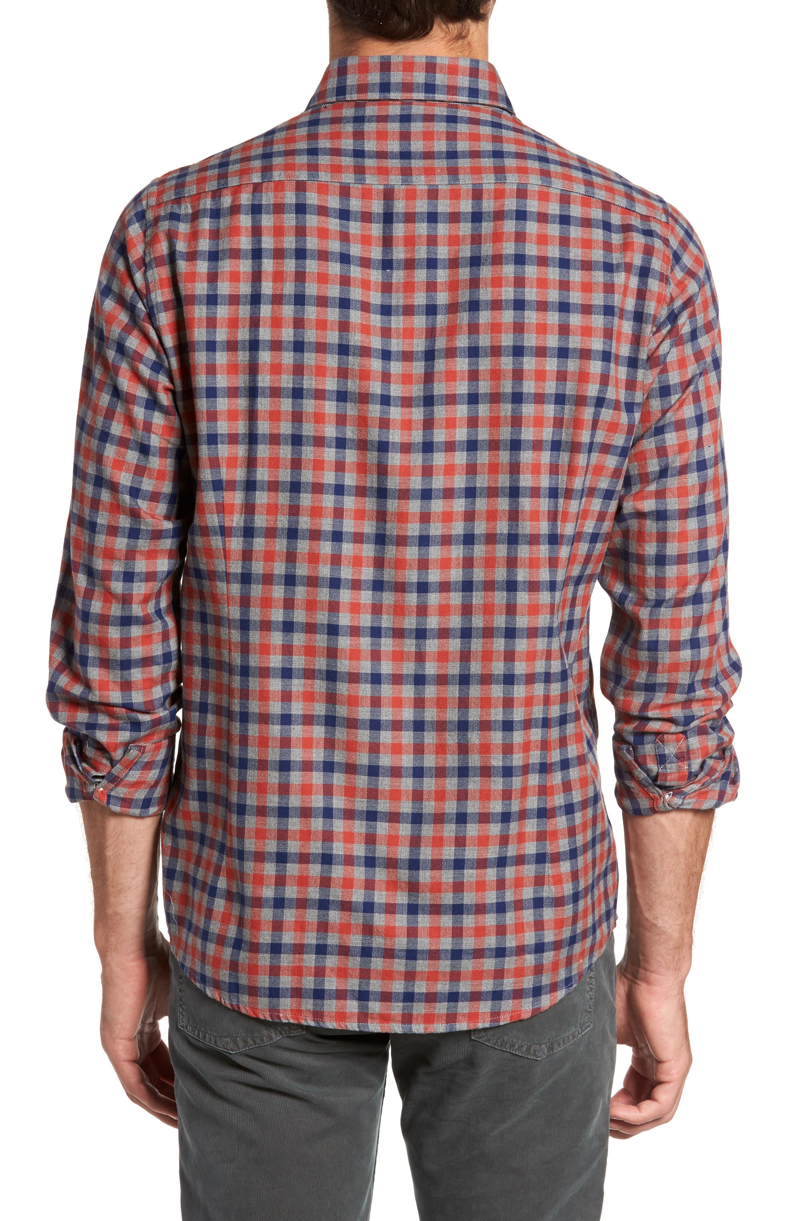 Alternate Image 2  - Barbour Moss Check Flannel Sport Shirt