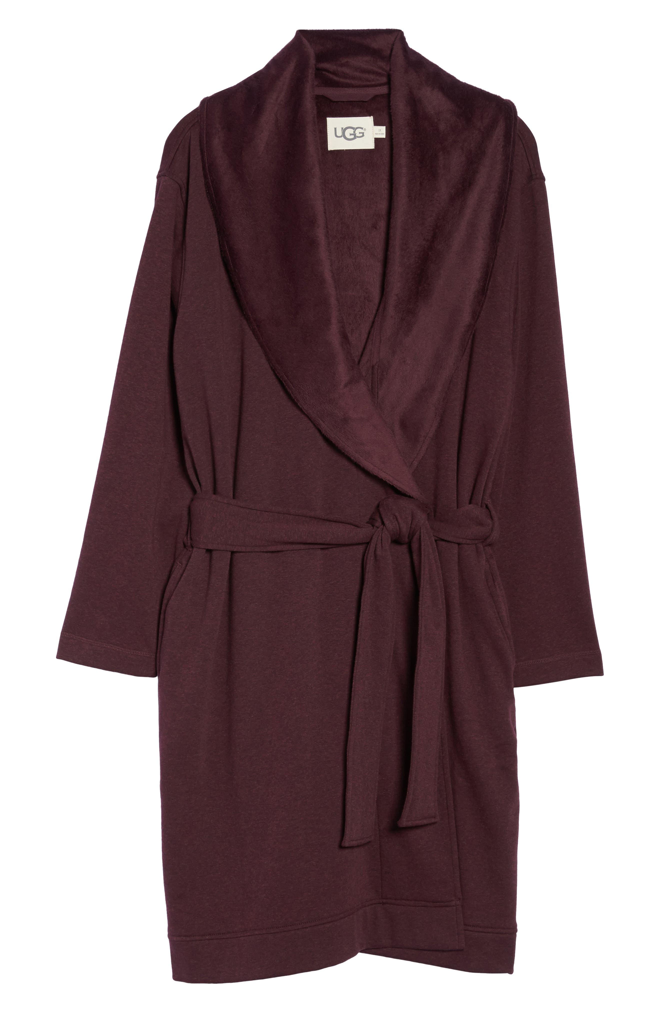 Alternate Image 4  - UGG® 'Blanche' Plush Shawl Collar Robe (Plus Size)