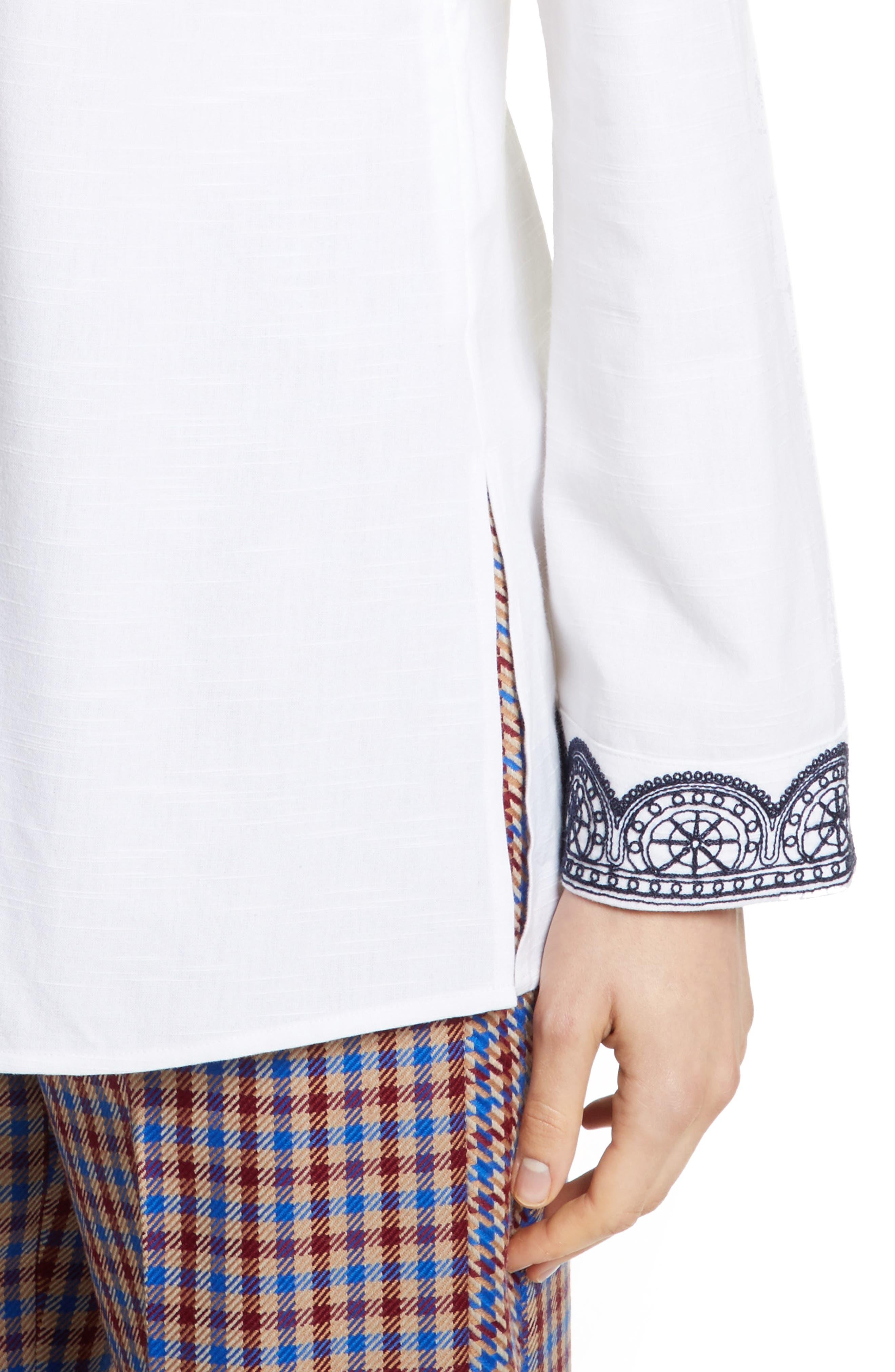 Embellished Tunic,                             Alternate thumbnail 4, color,                             White