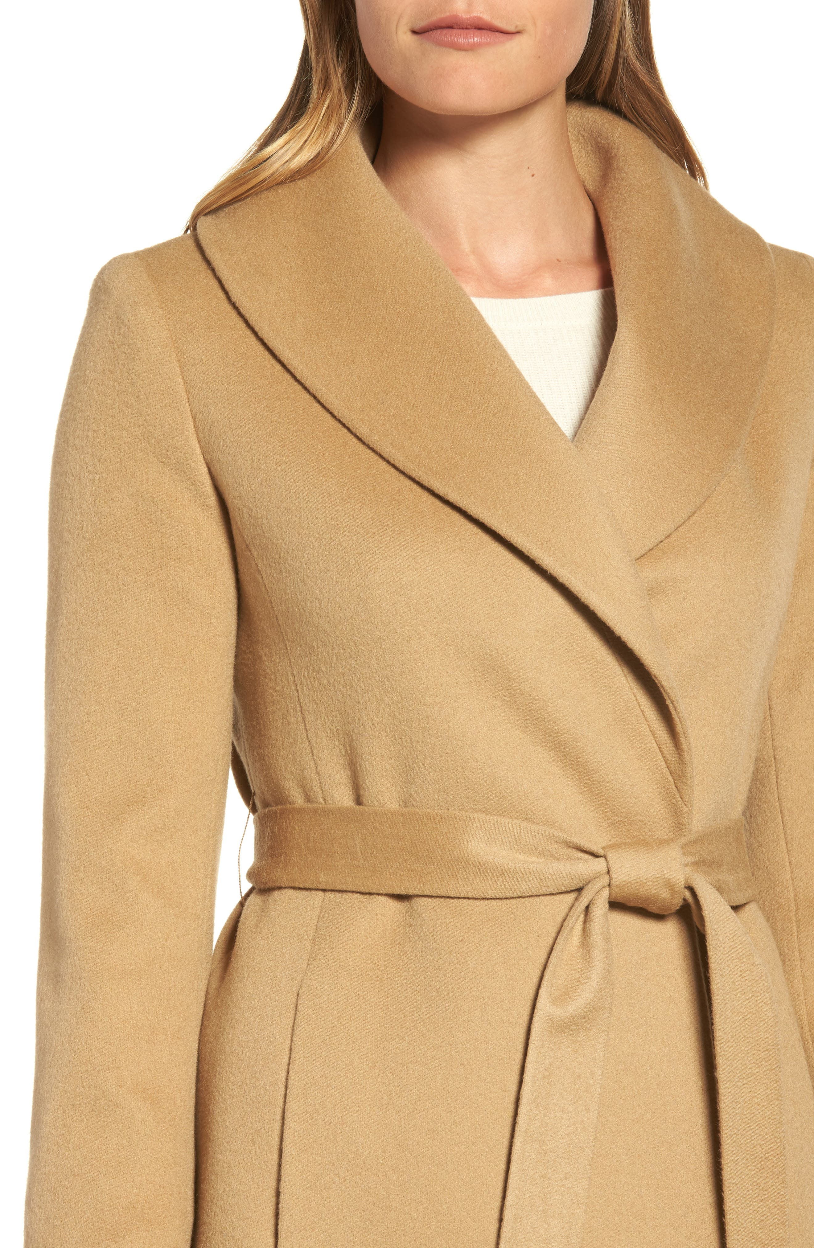 Alternate Image 4  - Fleurette Shawl Collar Cashmere Wrap Coat