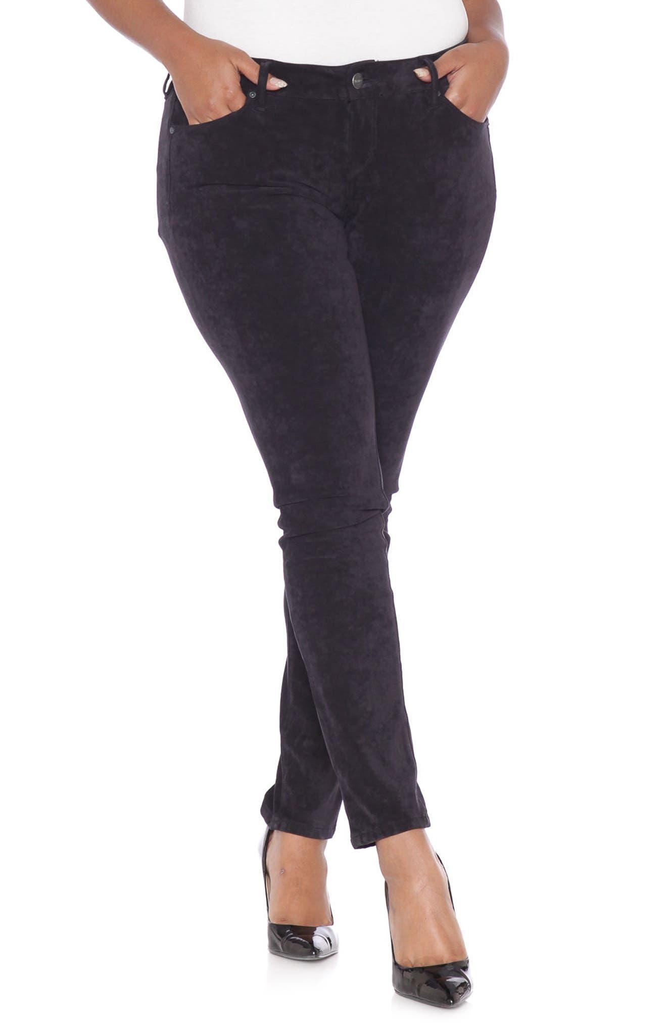 SLINK JEANS Slink Sueded Skinny Jeans