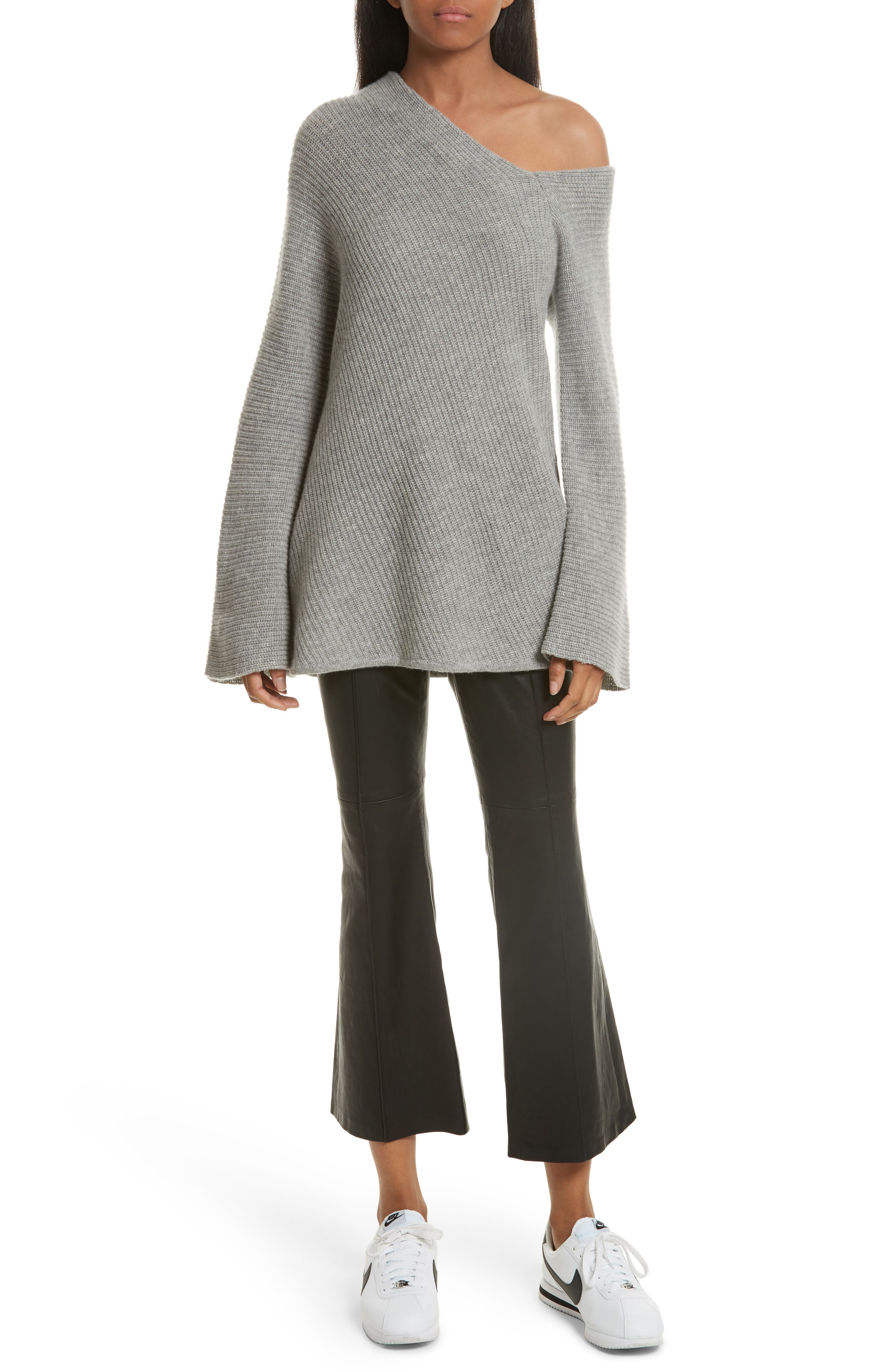 Alternate Image 2  - A.L.C. Charly Wool & Cashmere One-Shoulder Sweater