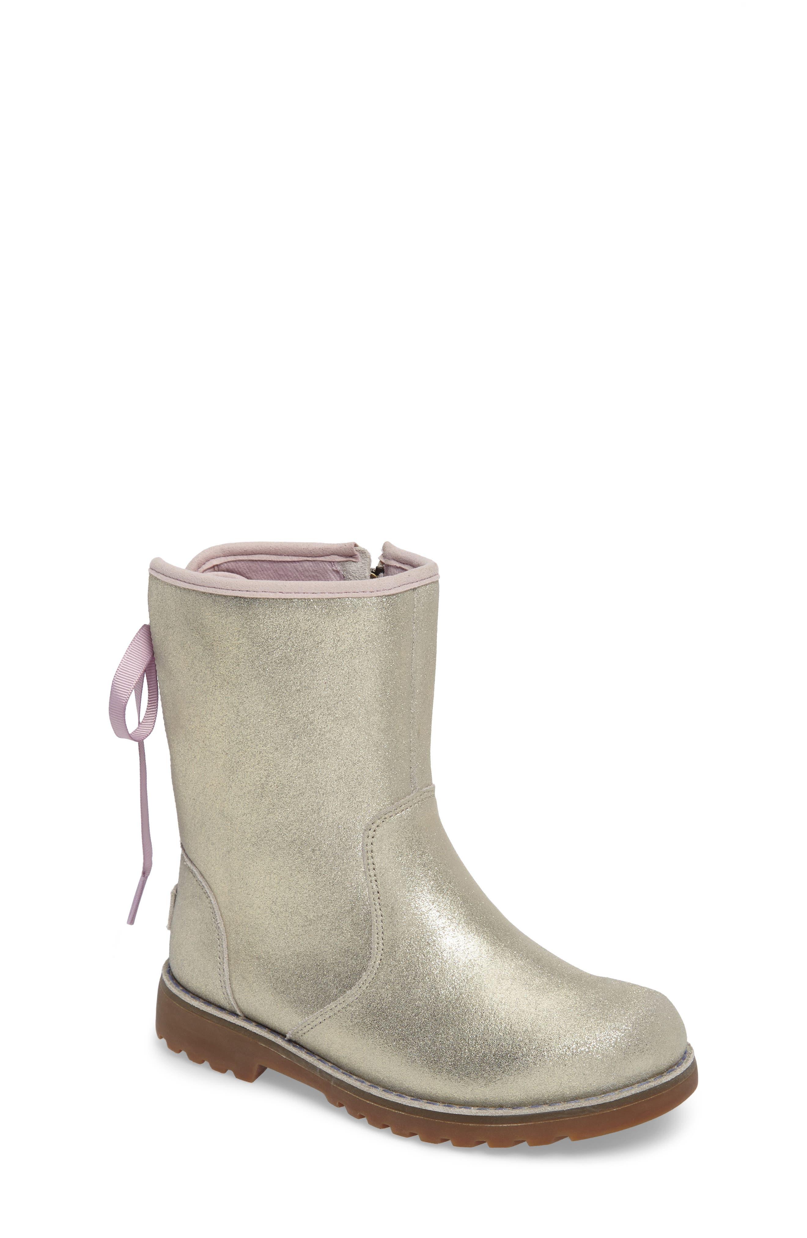 Main Image - UGG® Corene Metallic Boot (Walker, Toddler, Little Kid & Big Kid)