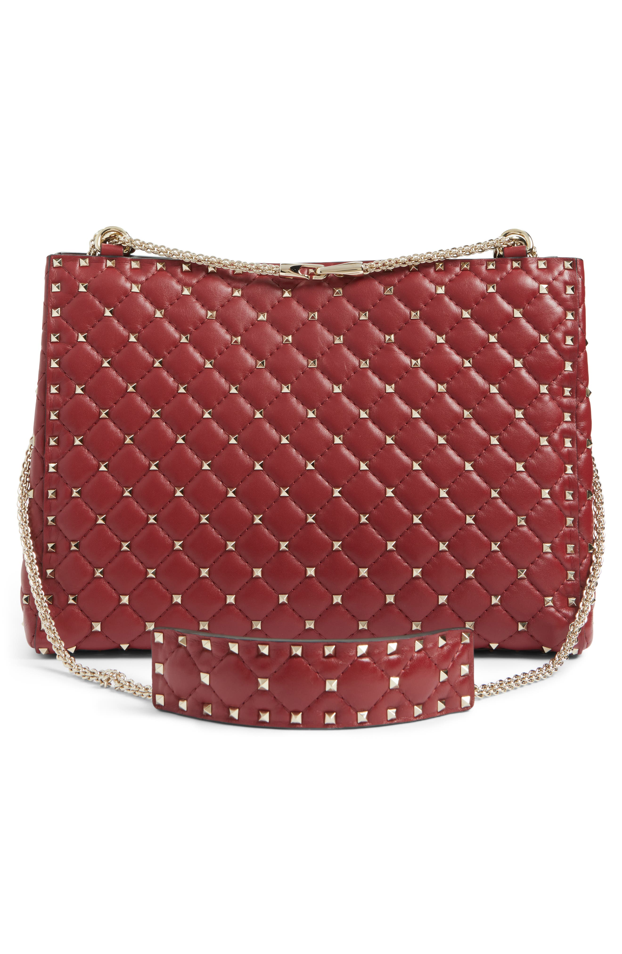 Alternate Image 2  - VALENTINO GARAVANI Rockstud Spike Quilted Lambskin Leather Shoulder Bag