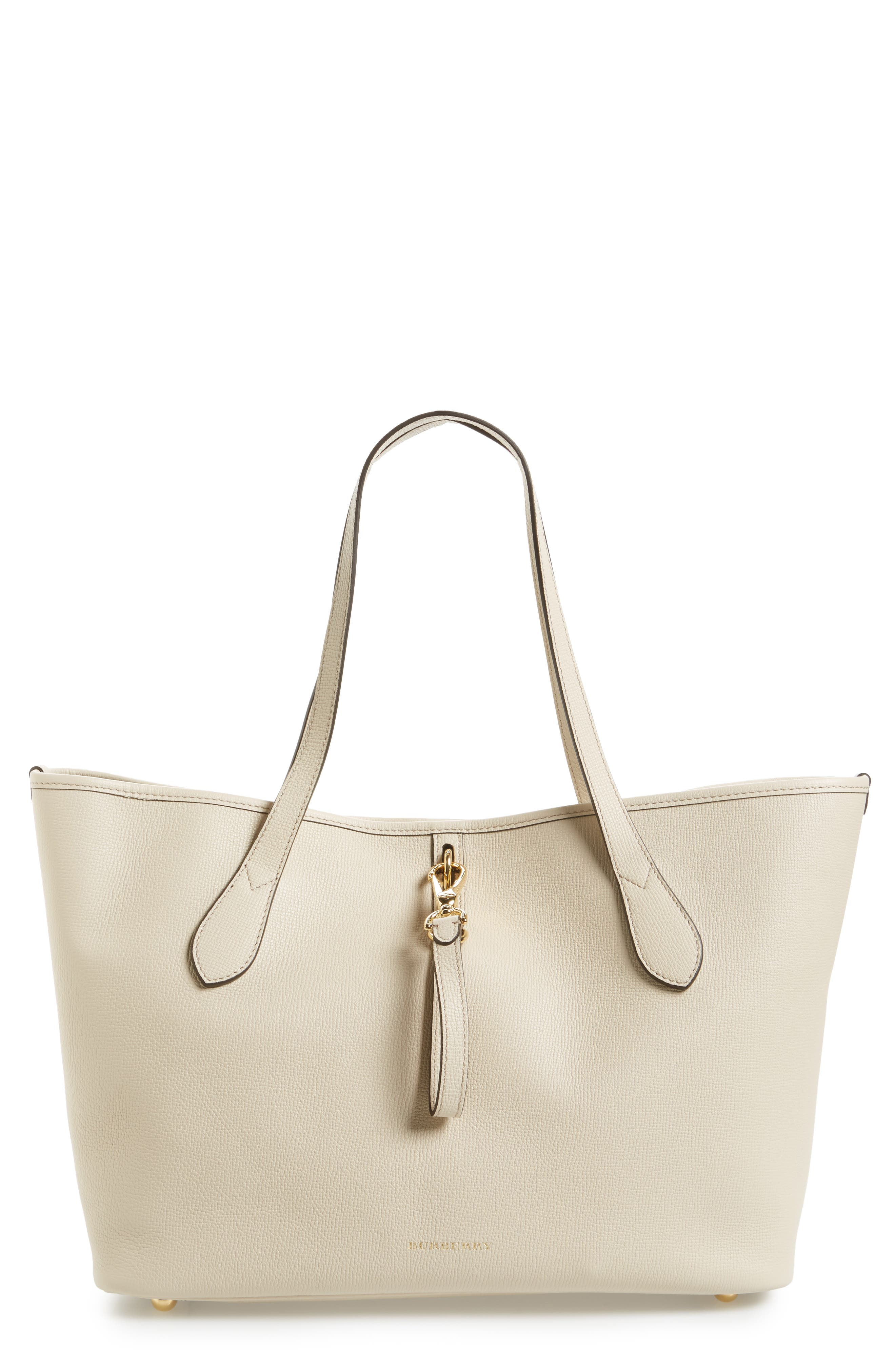 Main Image - Burberry Medium Honeybrook Leather Tote
