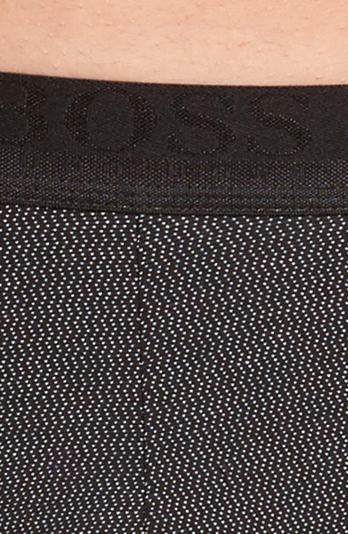 Micro Jacquard Trunks,                             Alternate thumbnail 4, color,                             Black