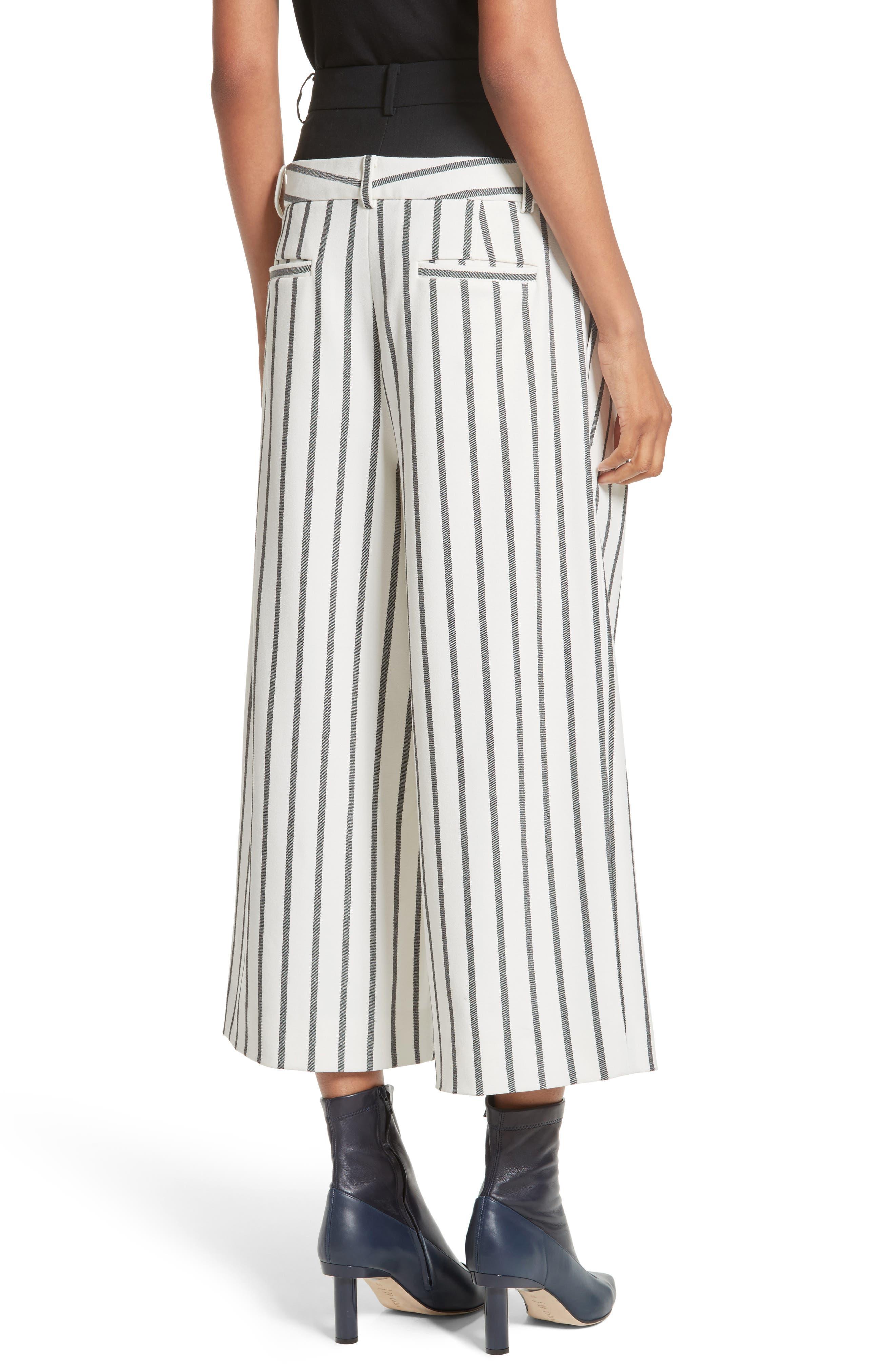 Alternate Image 2  - Tibi Lucci Stripe Crop Wide Leg Pants