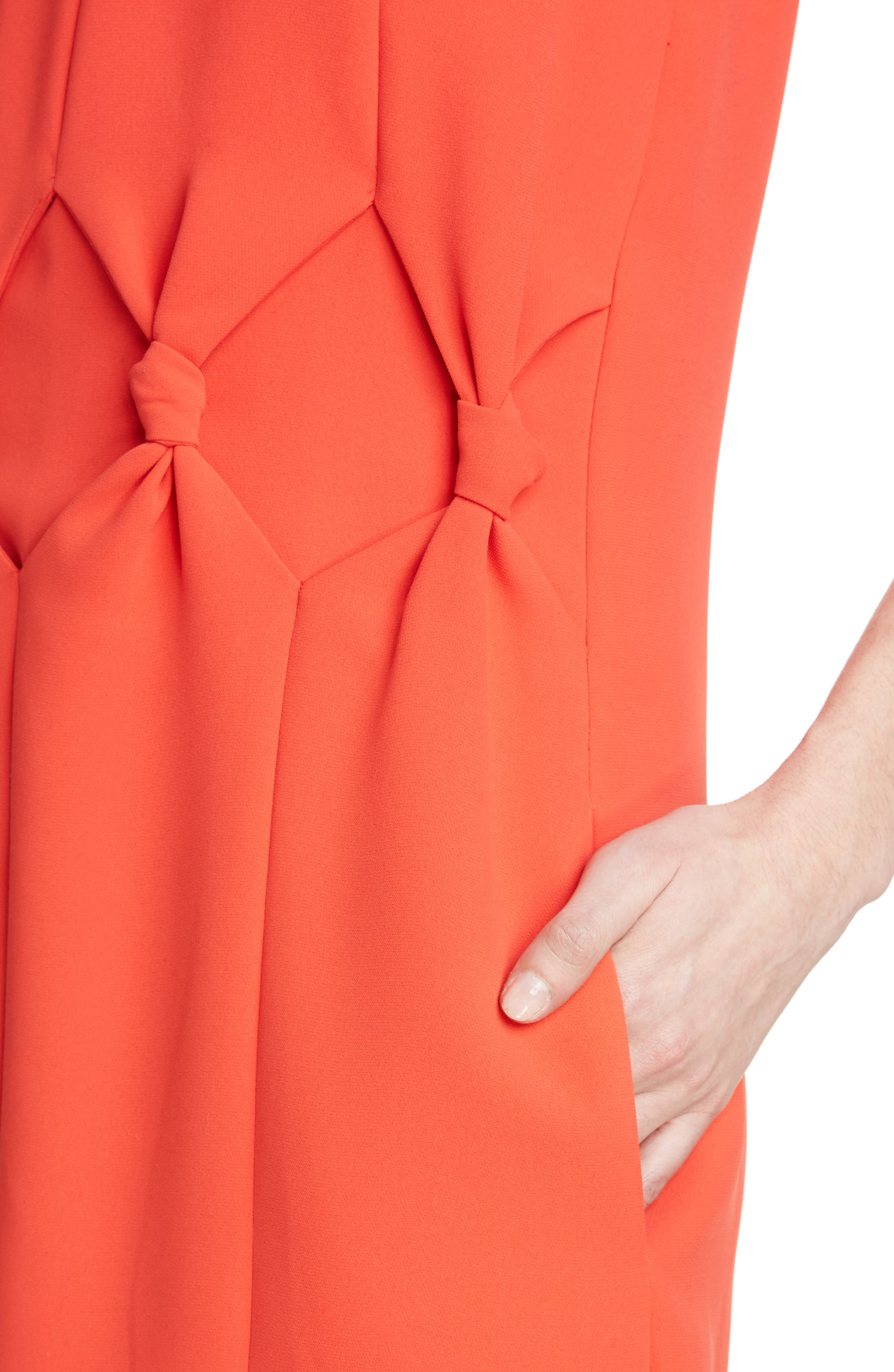 Knot Front Dress,                             Alternate thumbnail 4, color,                             Postbox Red