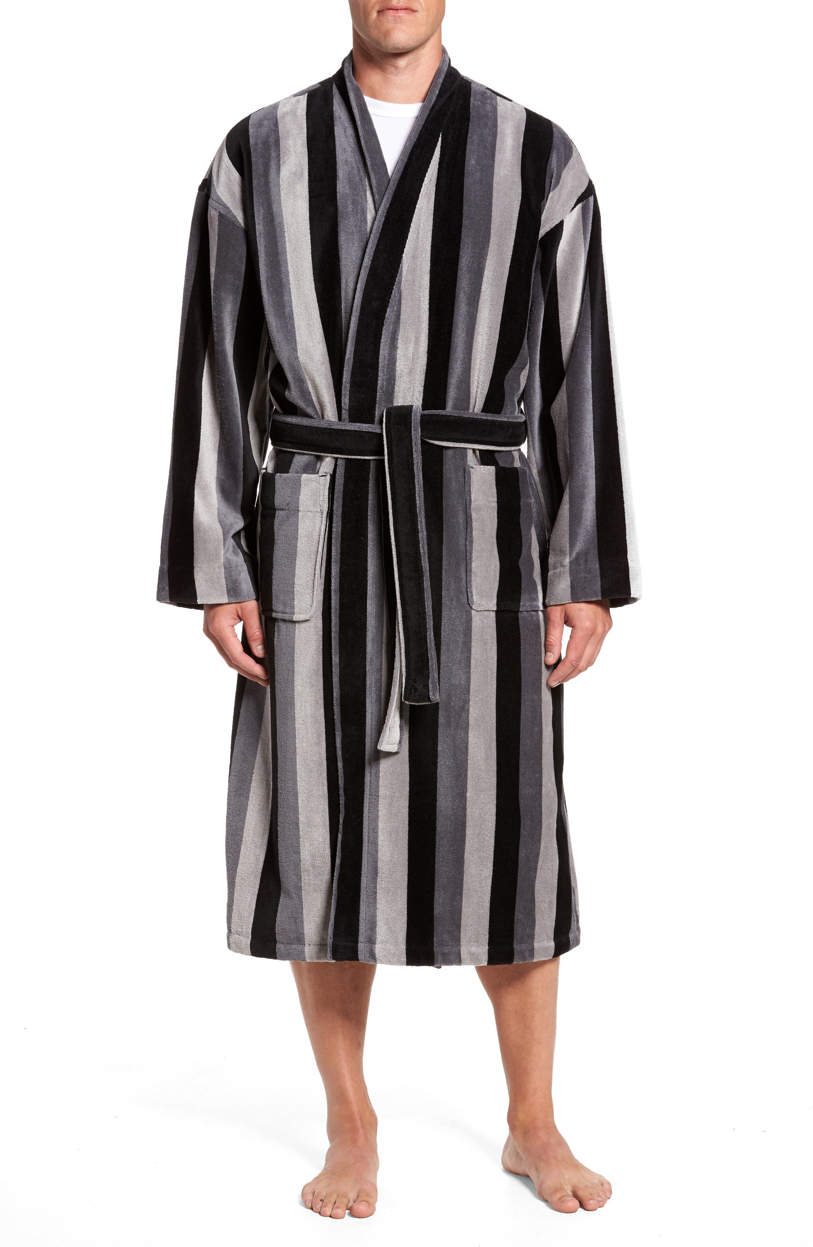 Remarkavelour Robe,                         Main,                         color, Black